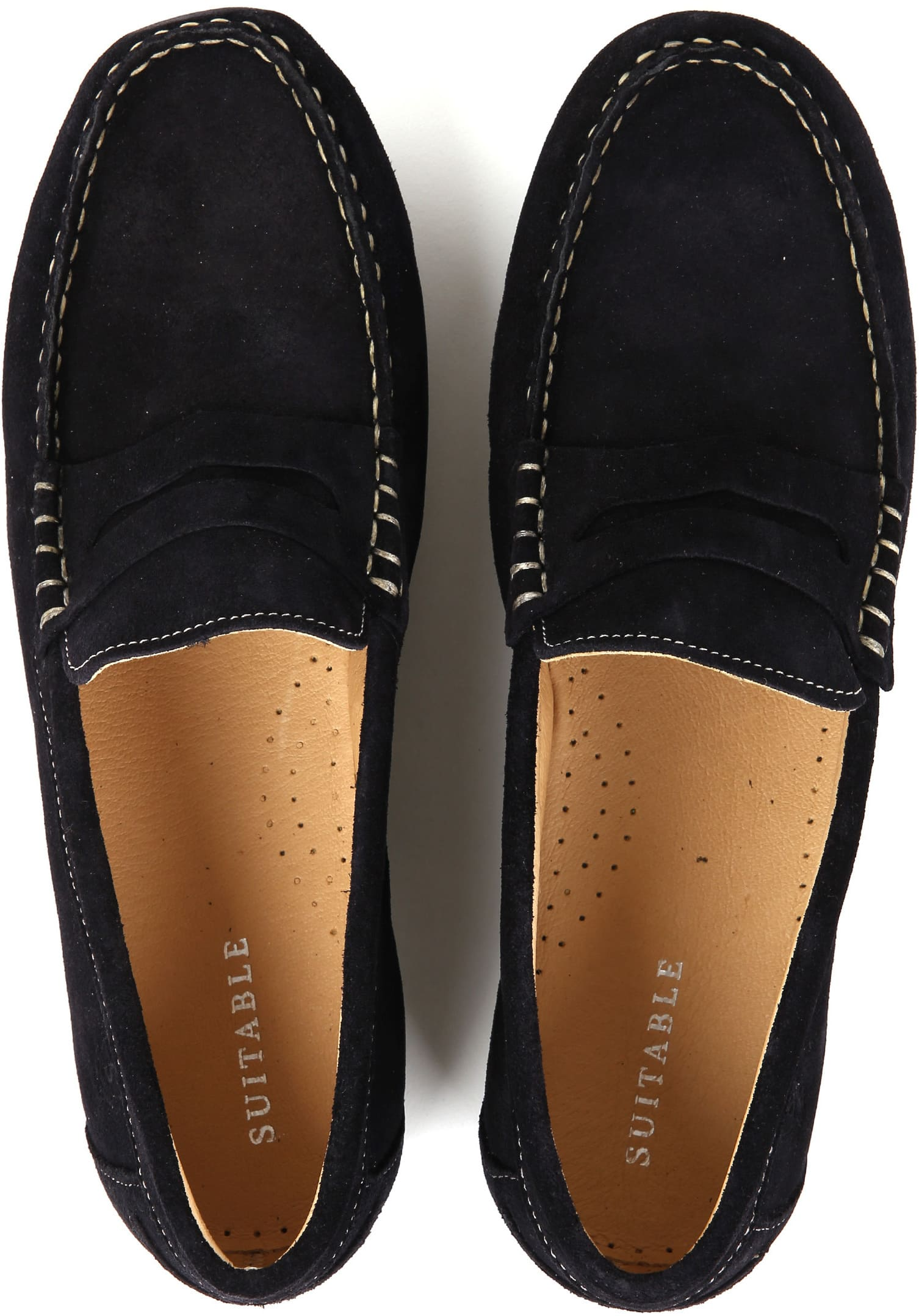 Suitable Moccassin Navy foto 3