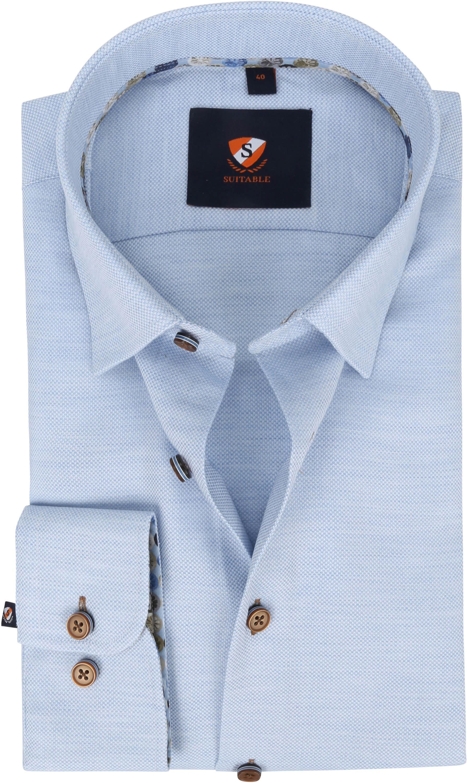 Suitable Overhemd 227-8 Lichtblauw