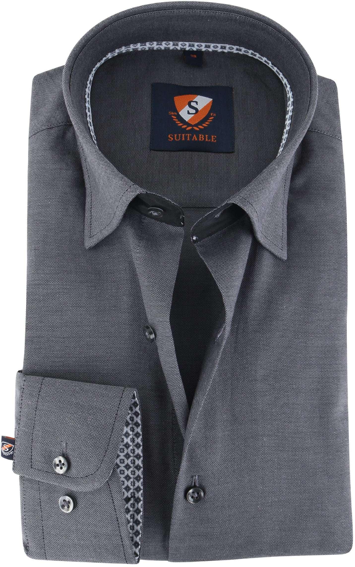 Suitable Overhemd Antraciet 141-7 foto 0