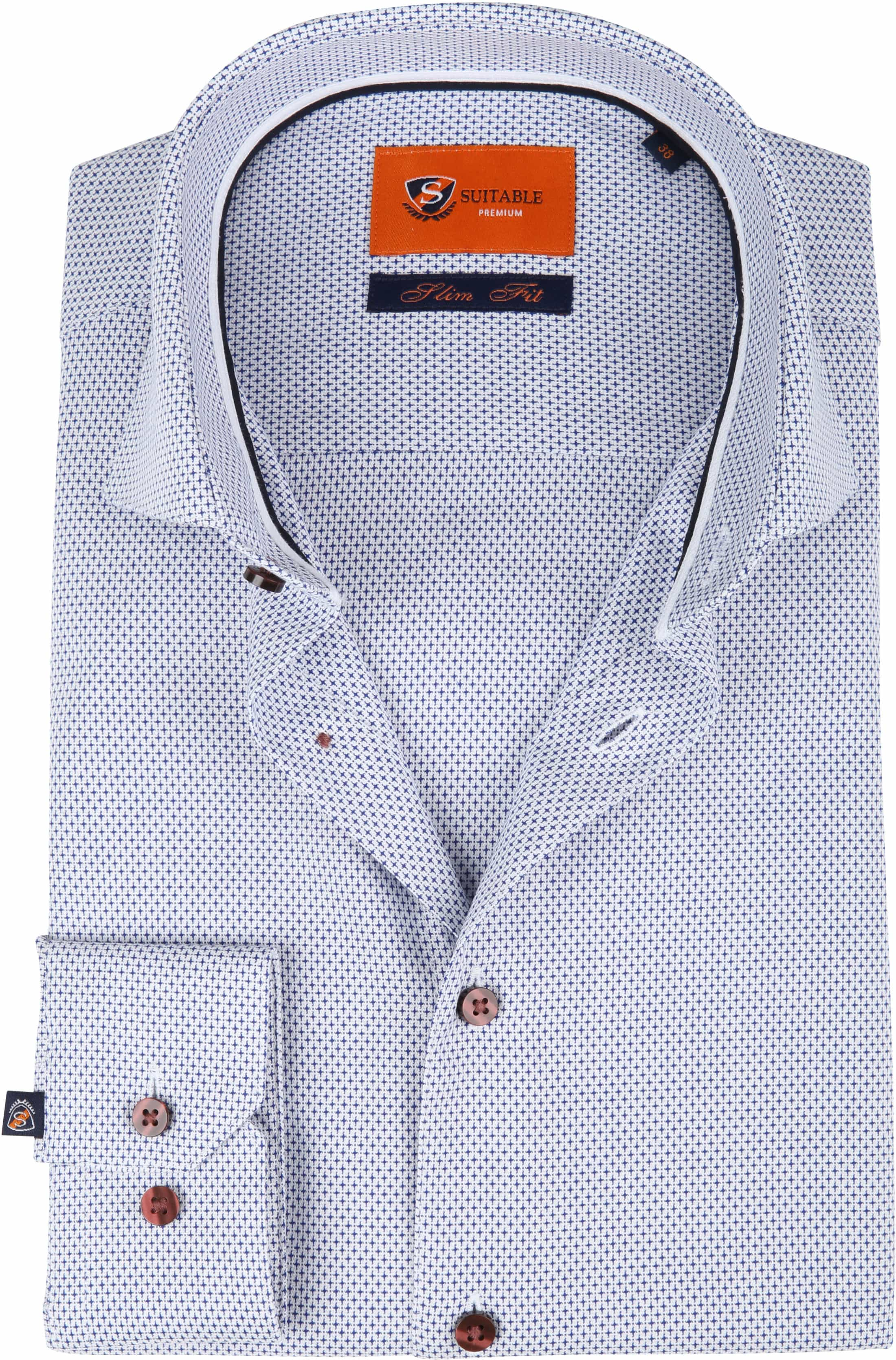 Suitable Overhemd Blauw Dessin D82-20 foto 0