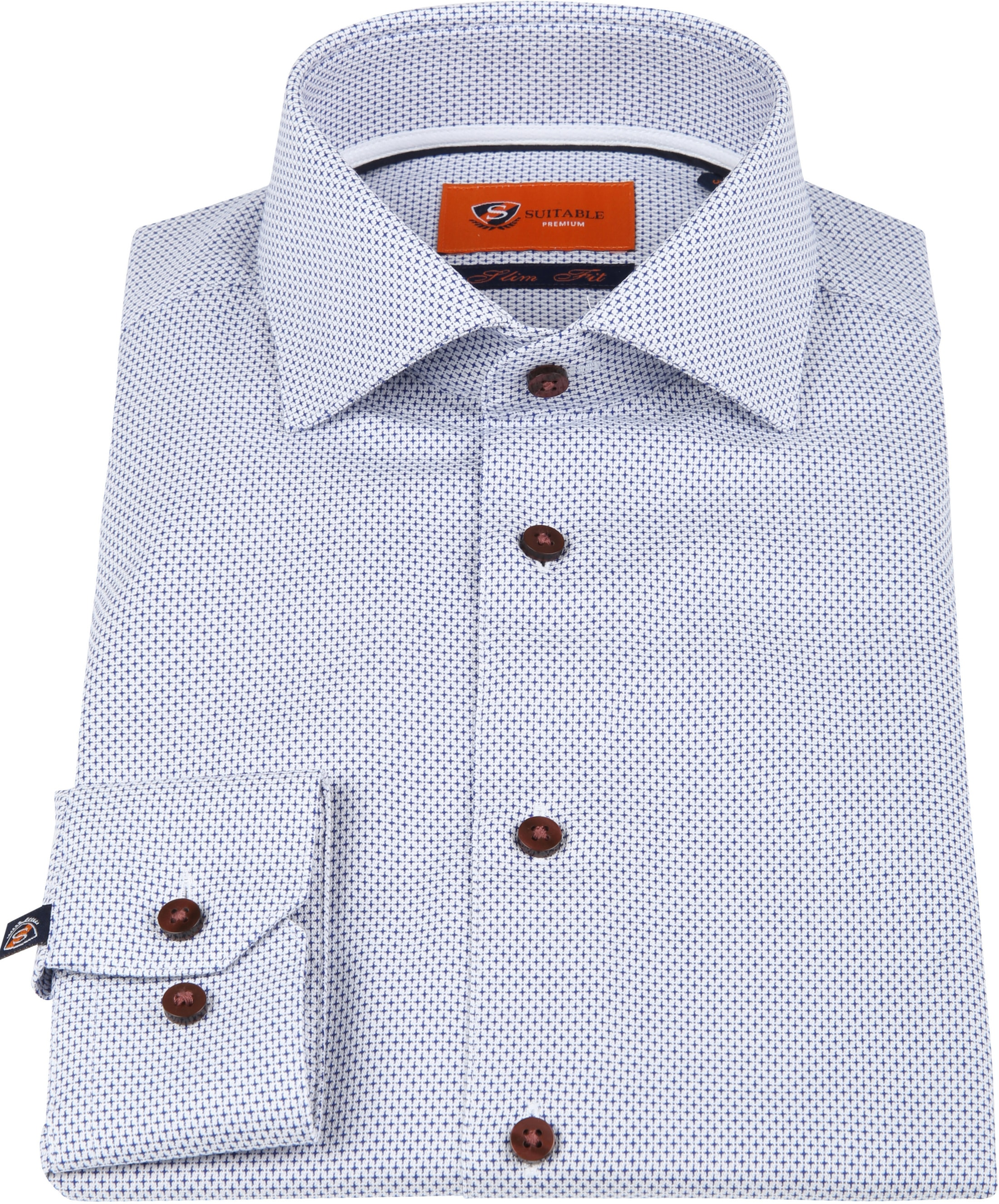 Suitable Overhemd Blauw Dessin D82-20 foto 2
