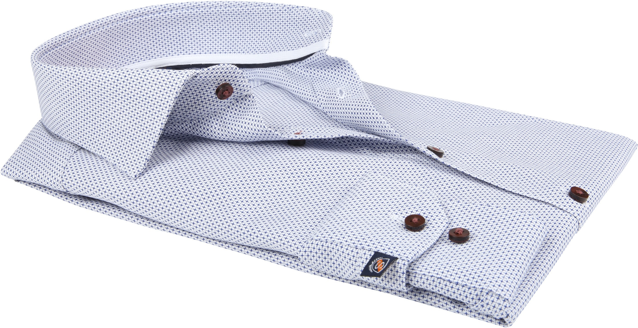 Suitable Overhemd Blauw Dessin D82-20 foto 3