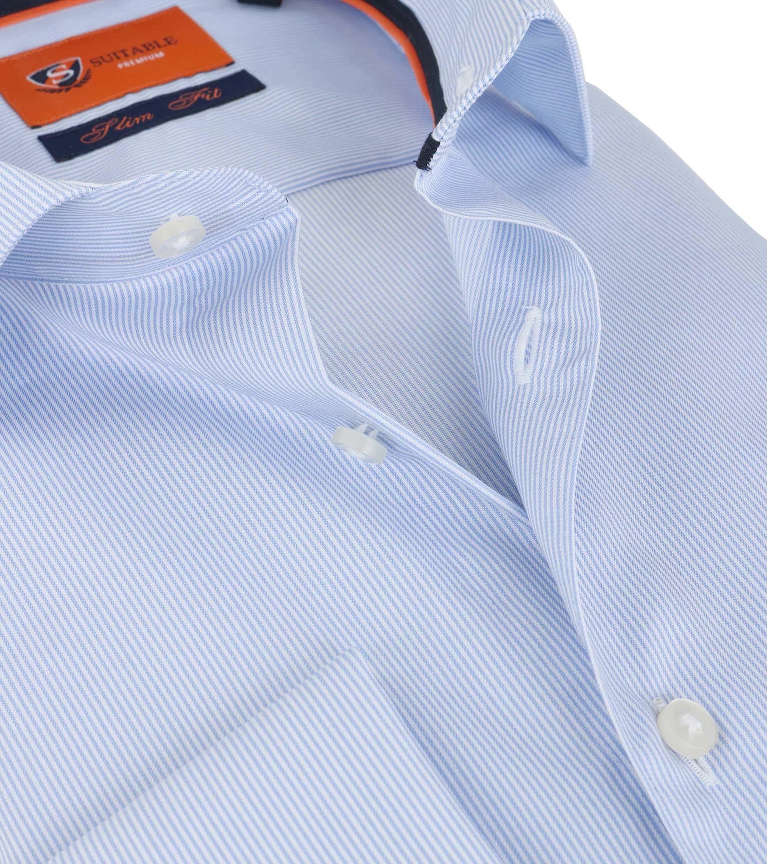 Suitable Overhemd Blauw Gestreept foto 2