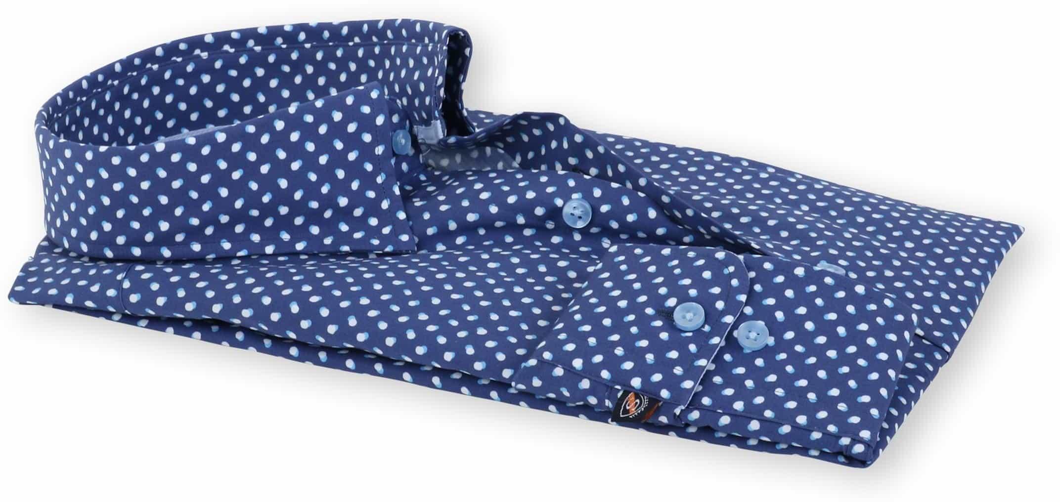 Suitable Overhemd Blauw Print 133-3 foto 2