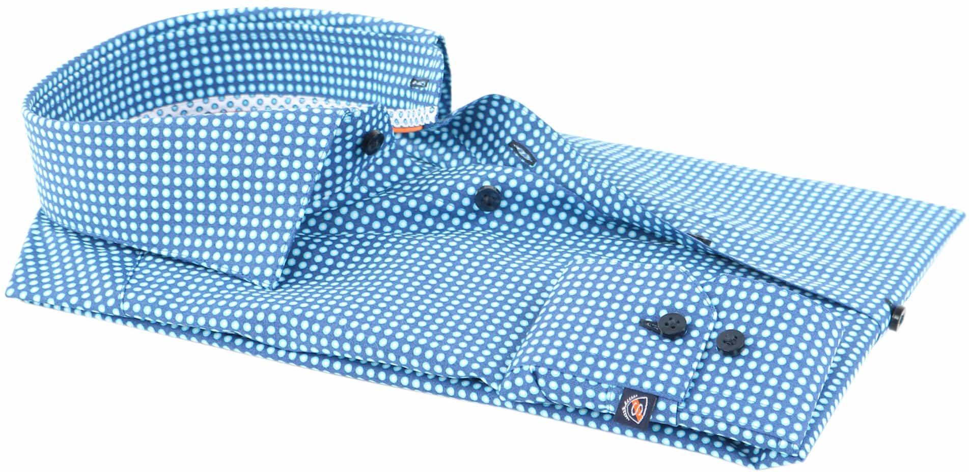 Suitable Overhemd Blauw Print D71-18 foto 2