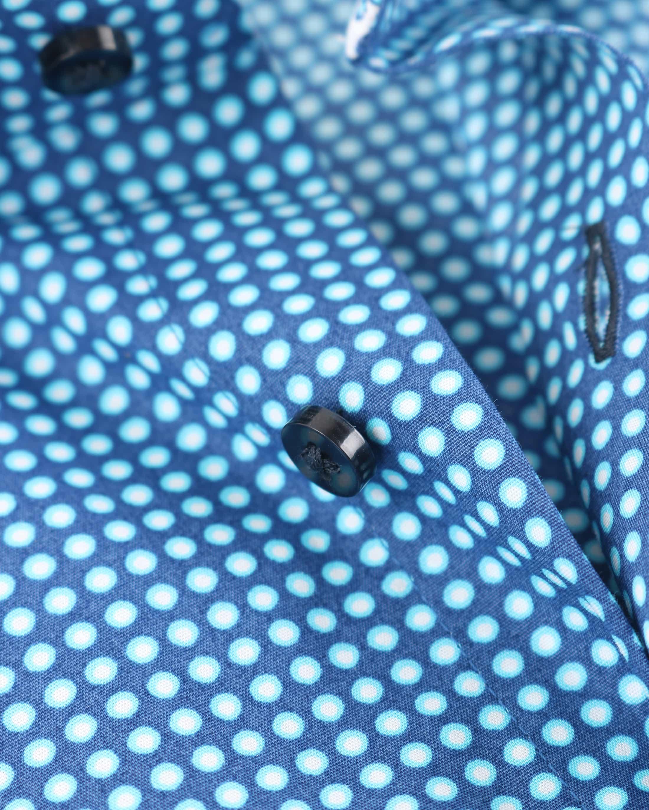 Suitable Overhemd Blauw Print D71-18 foto 3