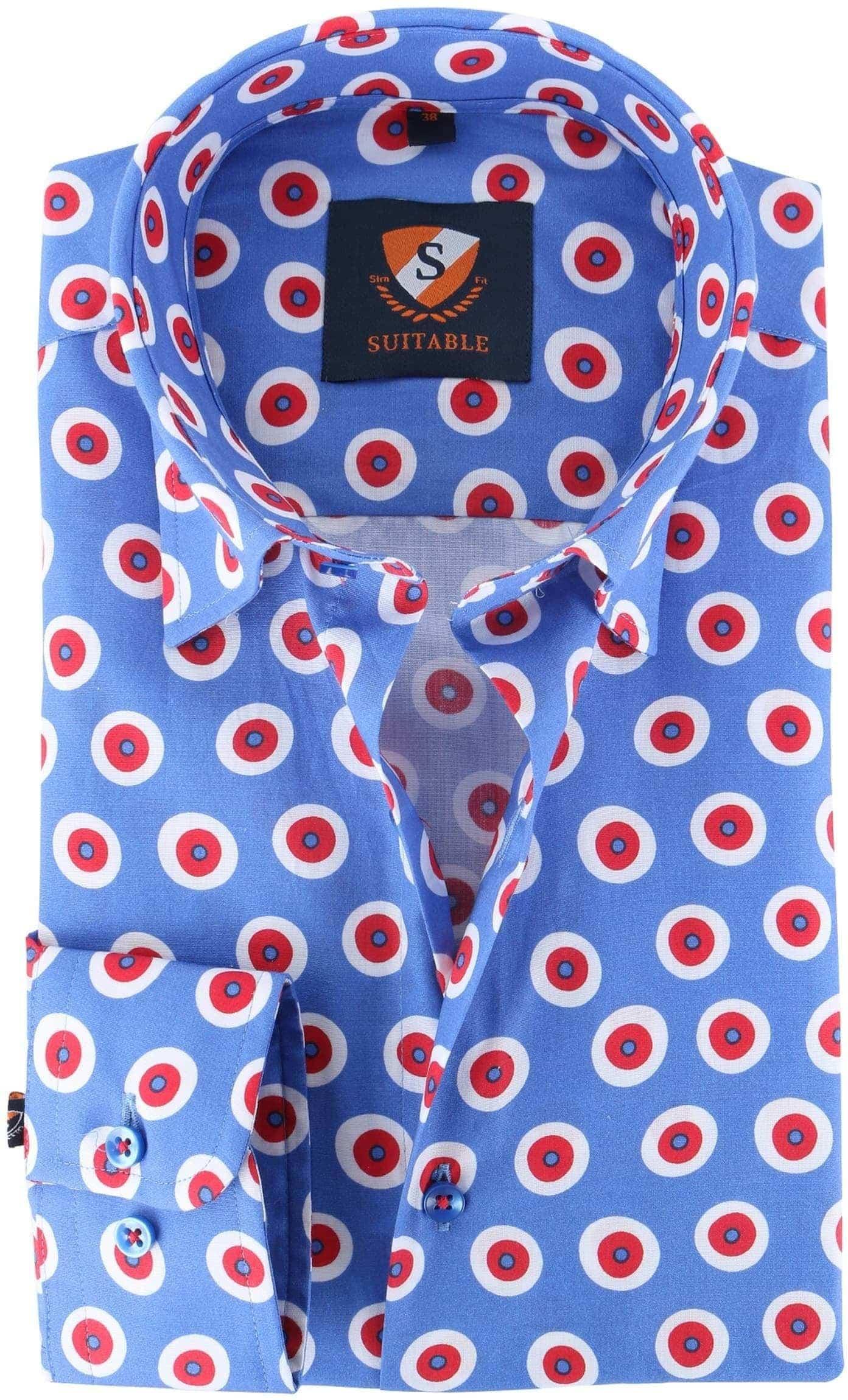 Suitable Overhemd Blauw Rood 141-4 foto 0