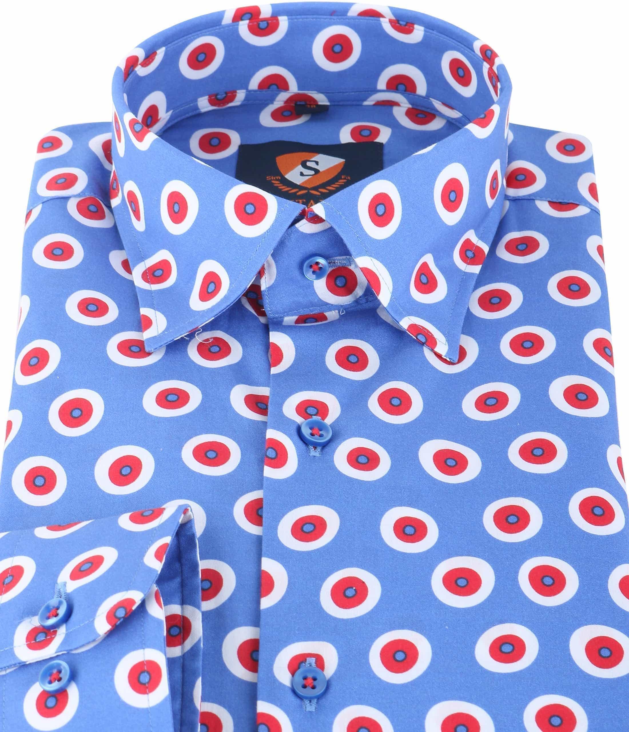 Suitable Overhemd Blauw Rood 141-4 foto 1