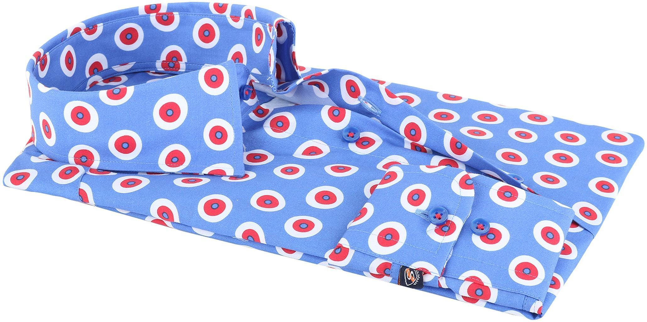 Suitable Overhemd Blauw Rood 141-4 foto 2