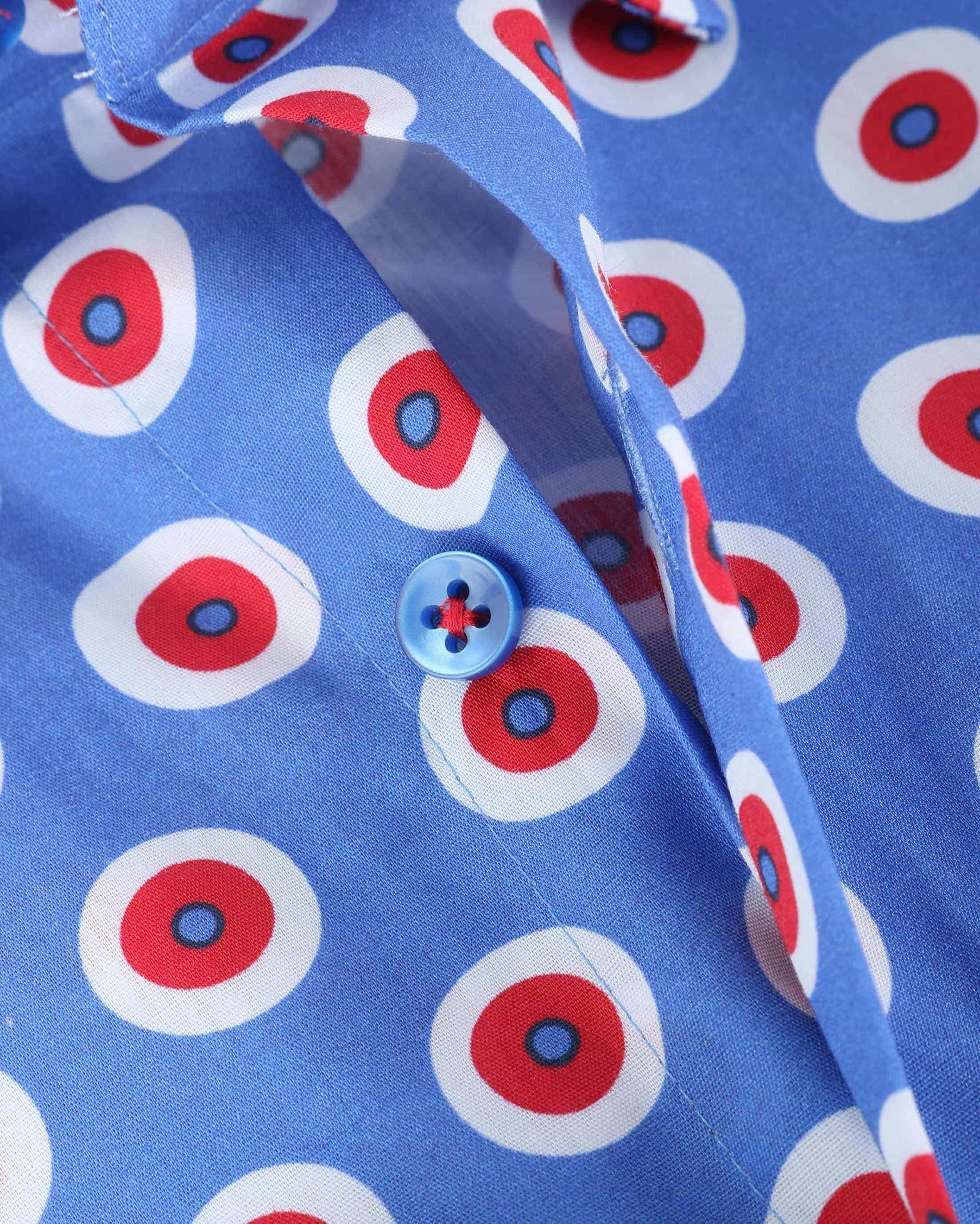 Suitable Overhemd Blauw Rood 141-4 foto 3