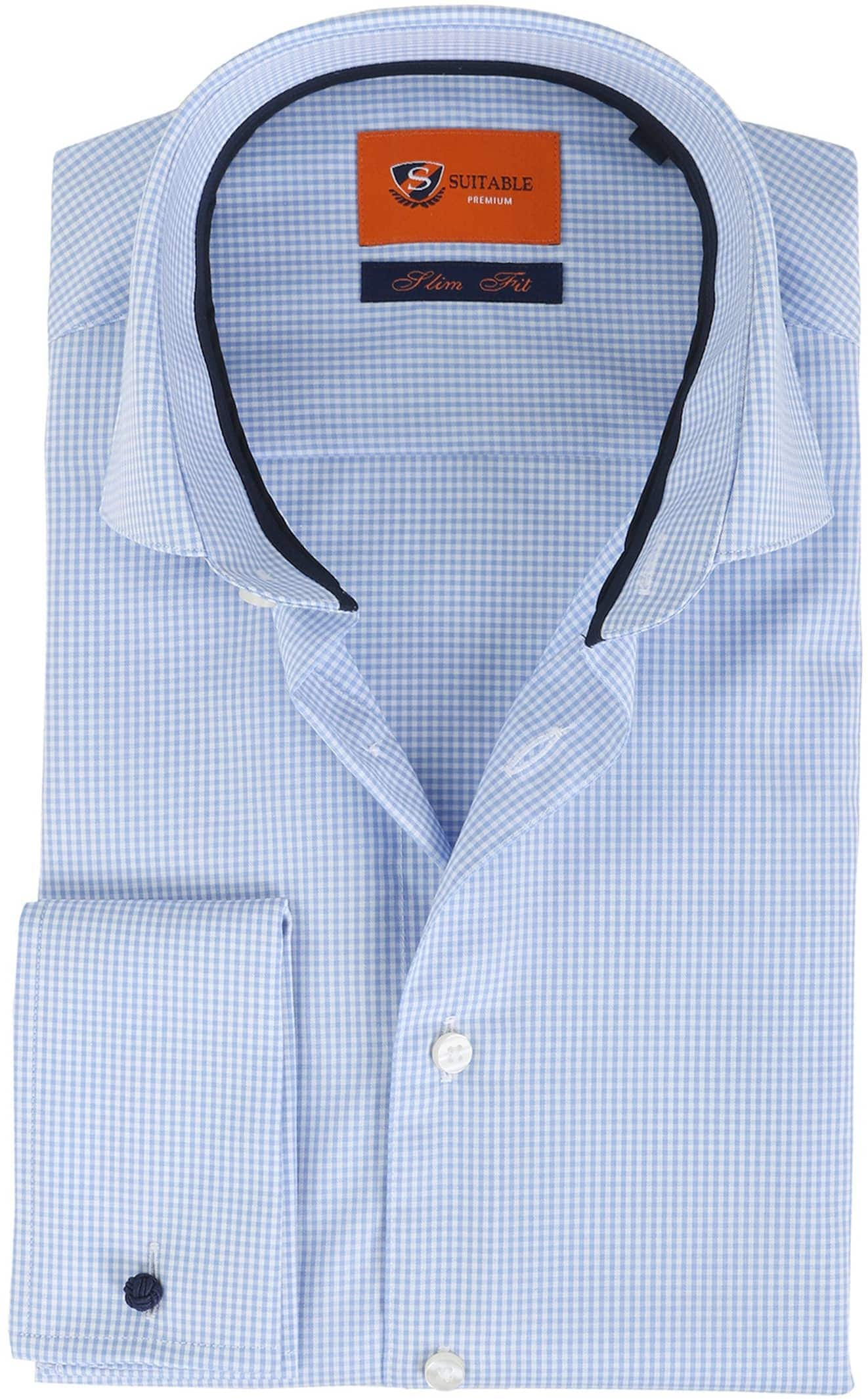 Suitable Overhemd Blauw Ruit foto 0