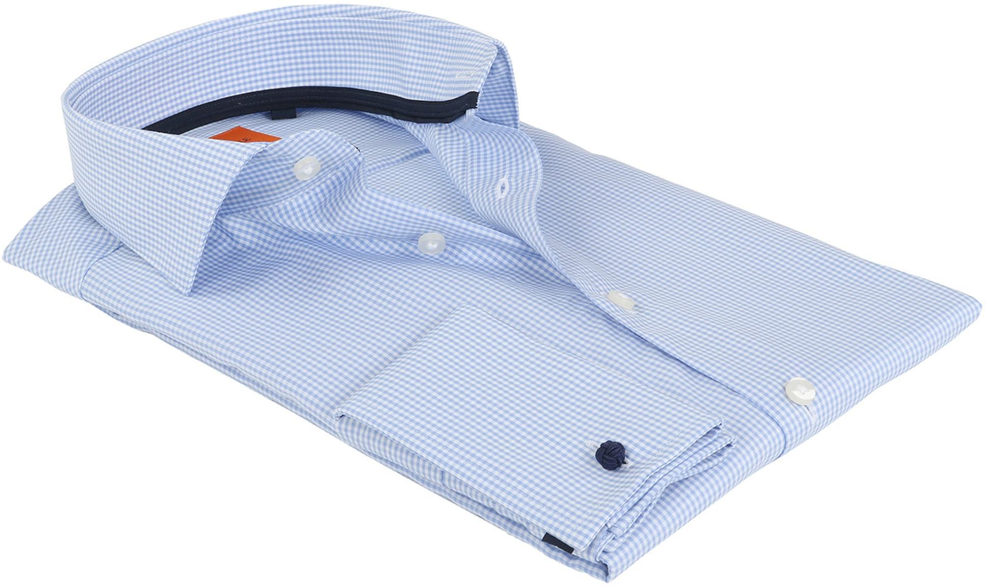 Suitable Overhemd Blauw Ruit foto 3