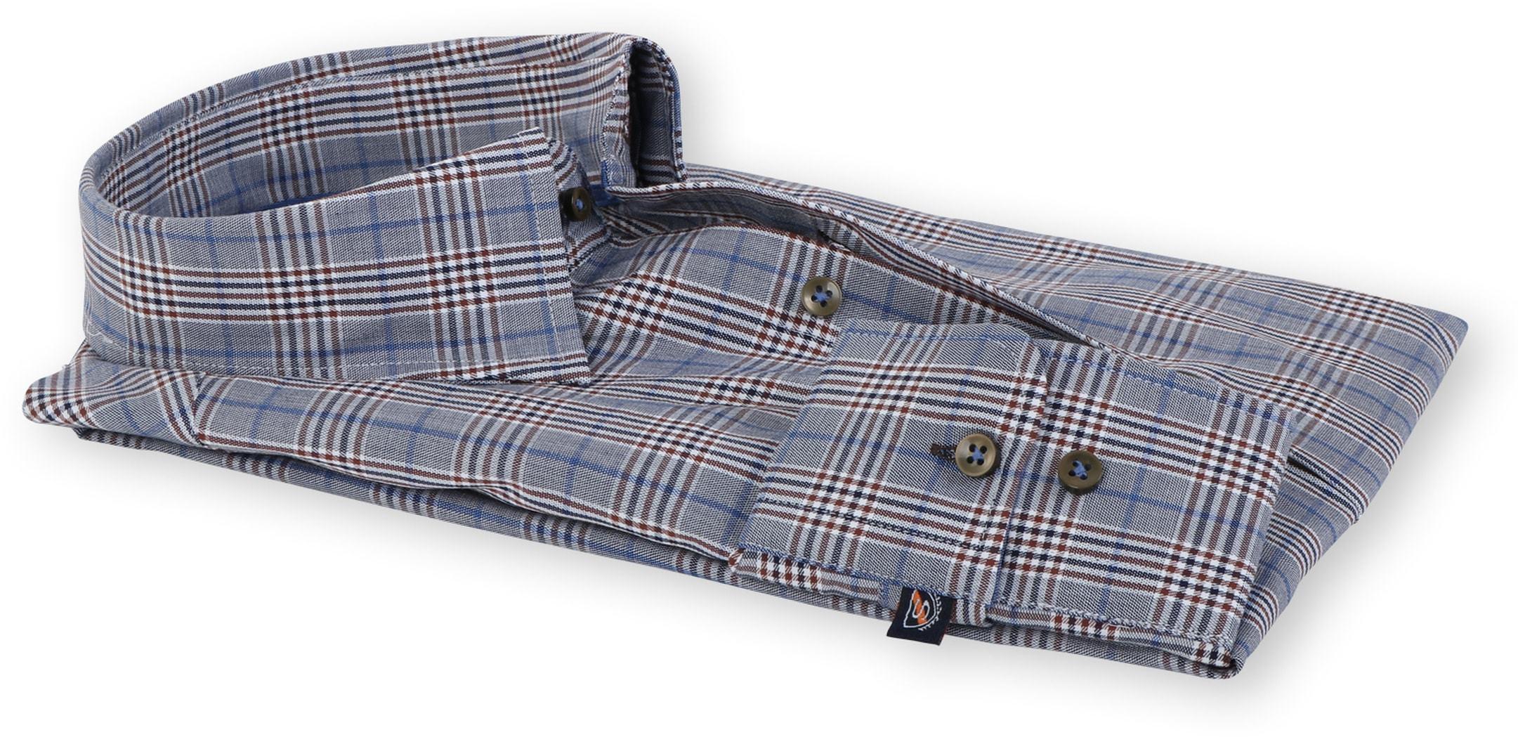 Suitable Overhemd Blauw Ruit 133-6 foto 2