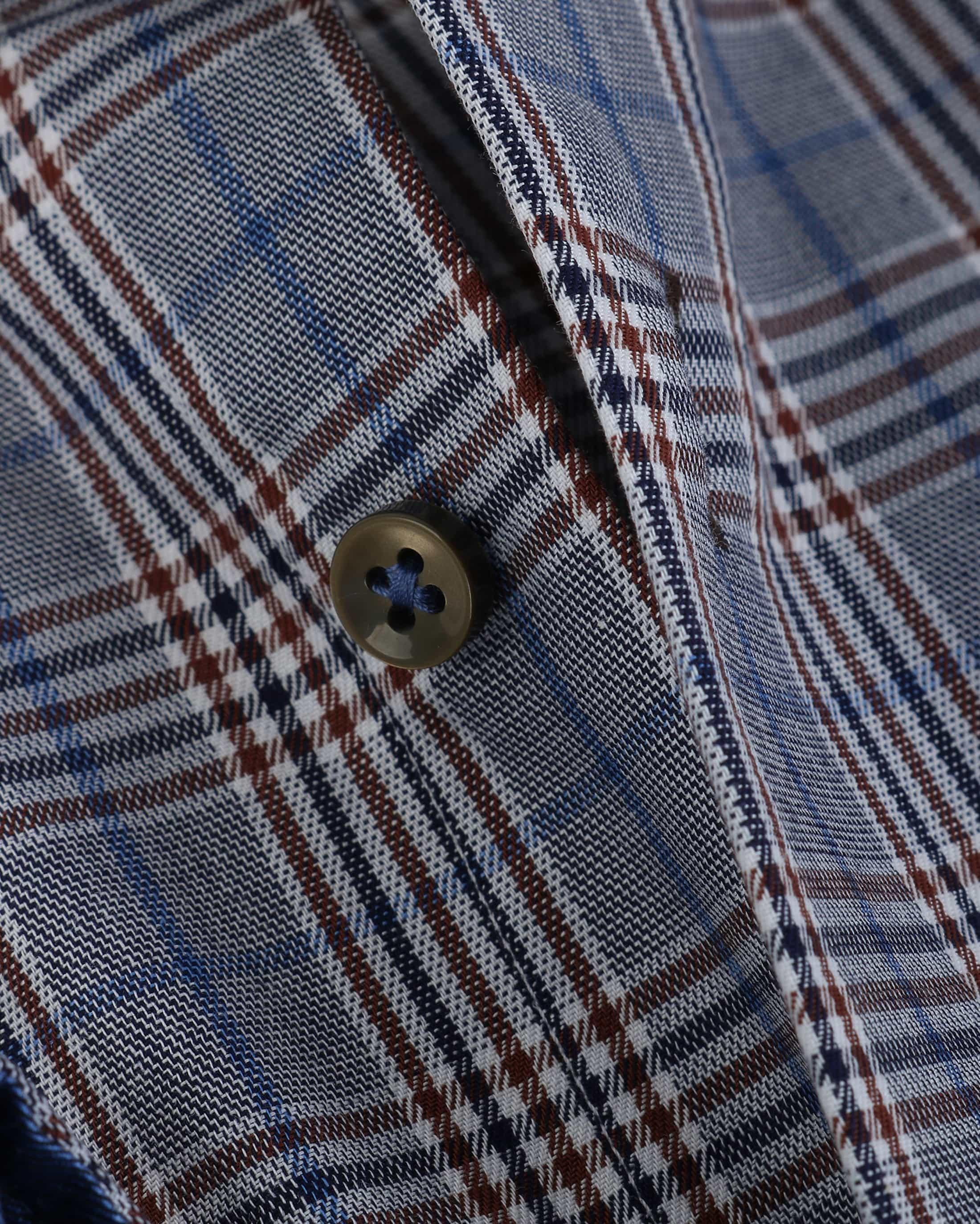 Suitable Overhemd Blauw Ruit 133-6 foto 3