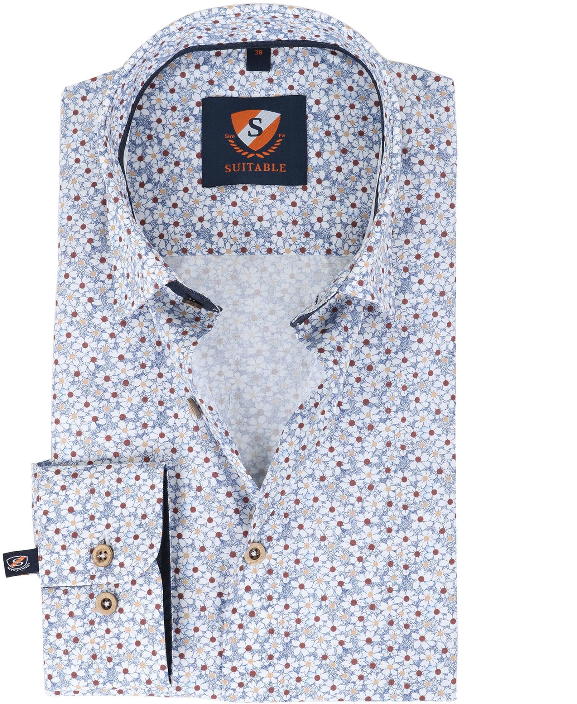 Suitable overhemd Bloem Blauw foto 0