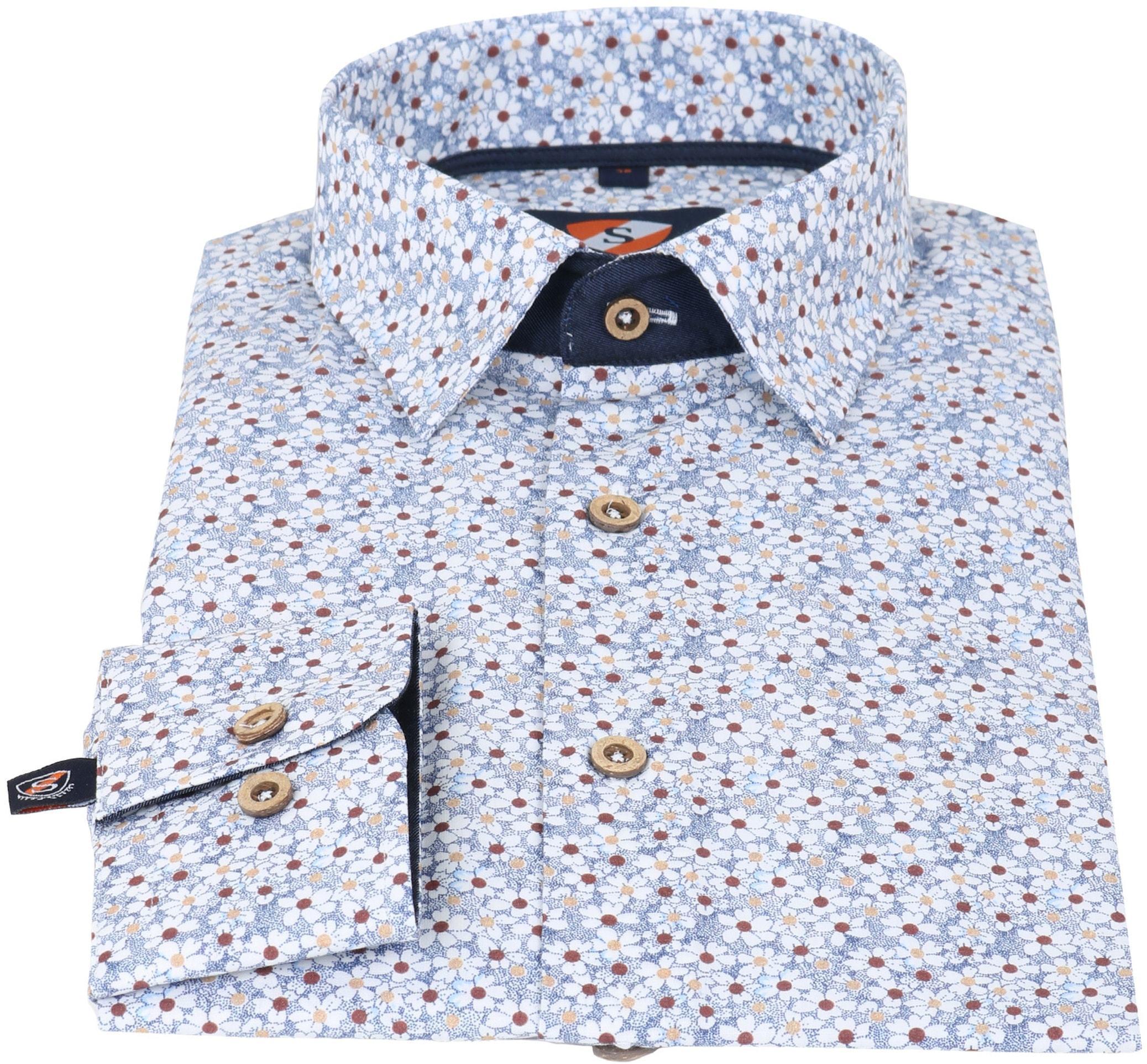 Suitable overhemd Bloem Blauw foto 1