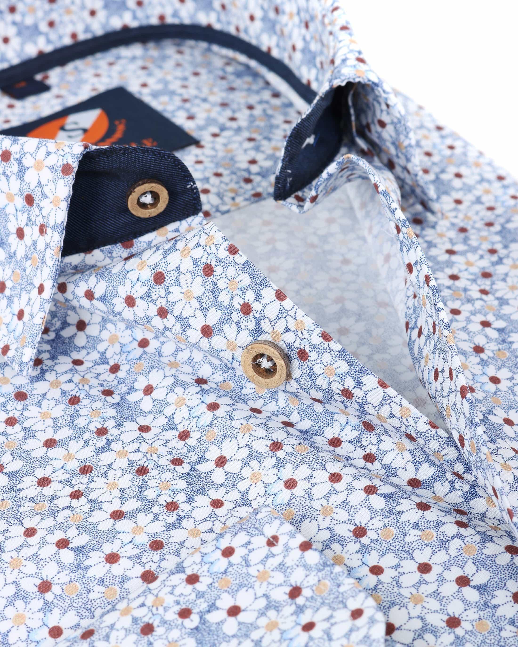 Suitable overhemd Bloem Blauw foto 3