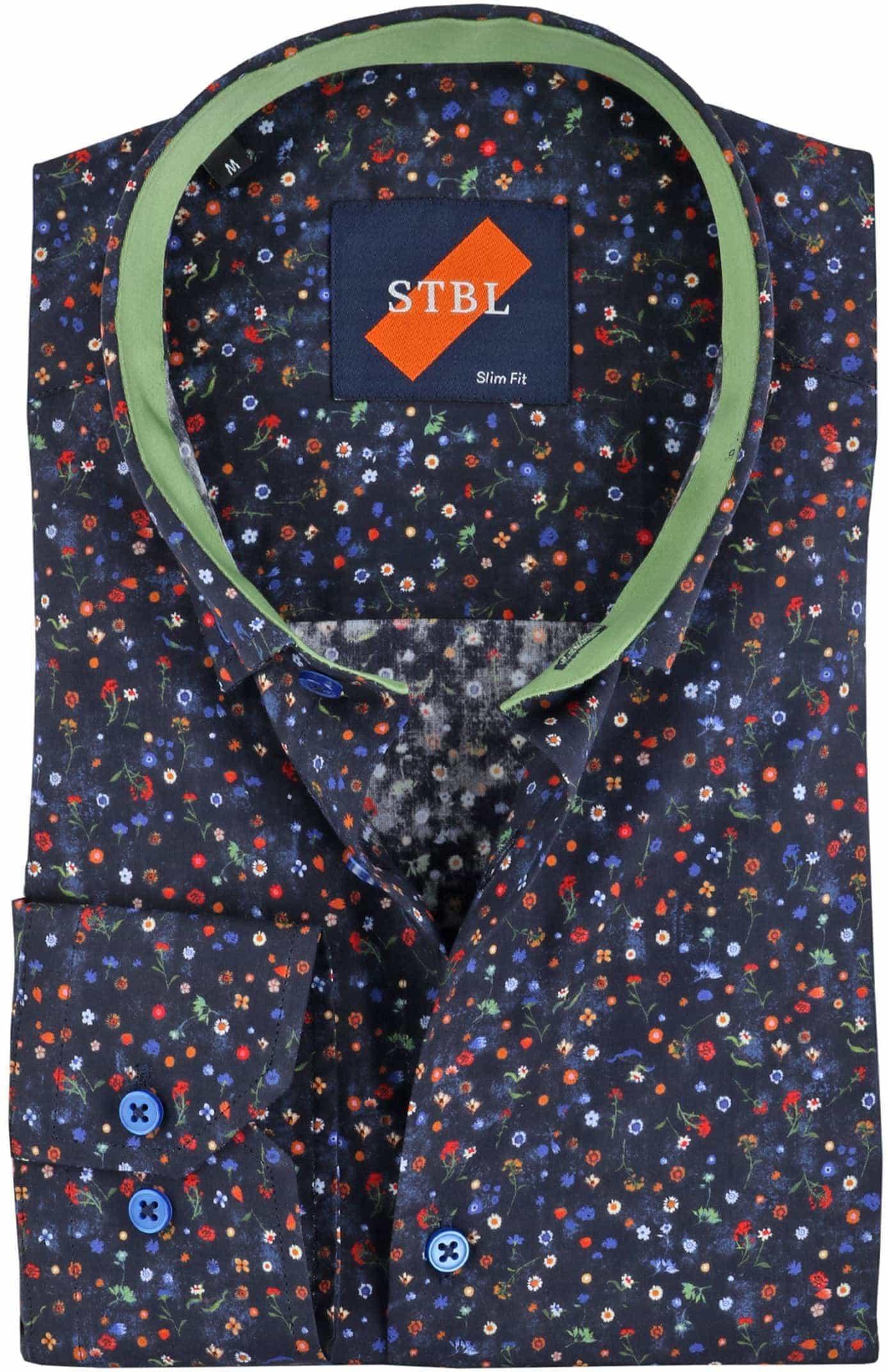 Suitable Overhemd Bloem Navy foto 0