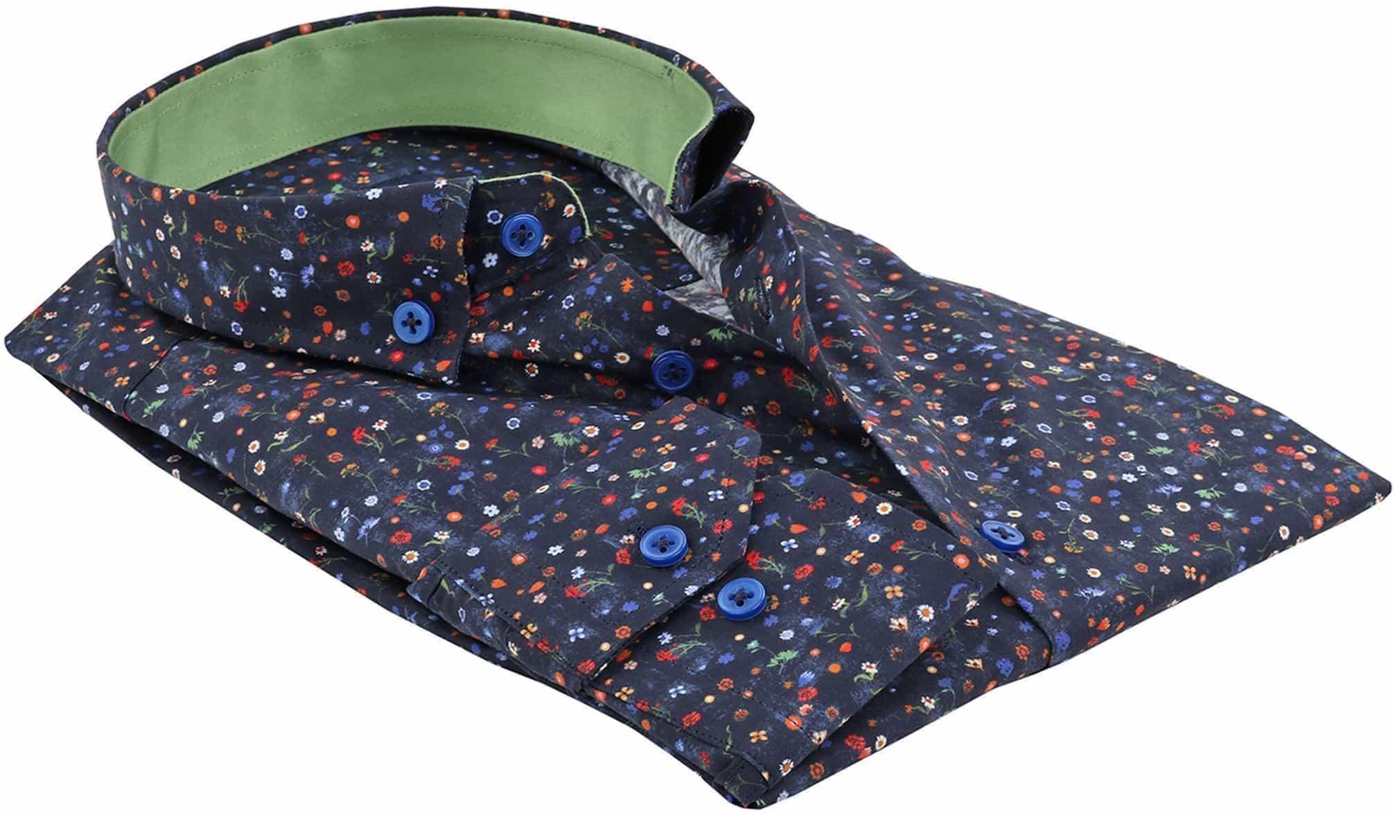 Suitable Overhemd Bloem Navy foto 1
