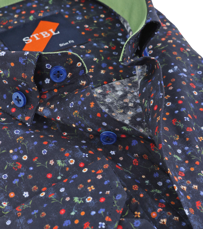 Suitable Overhemd Bloem Navy foto 2