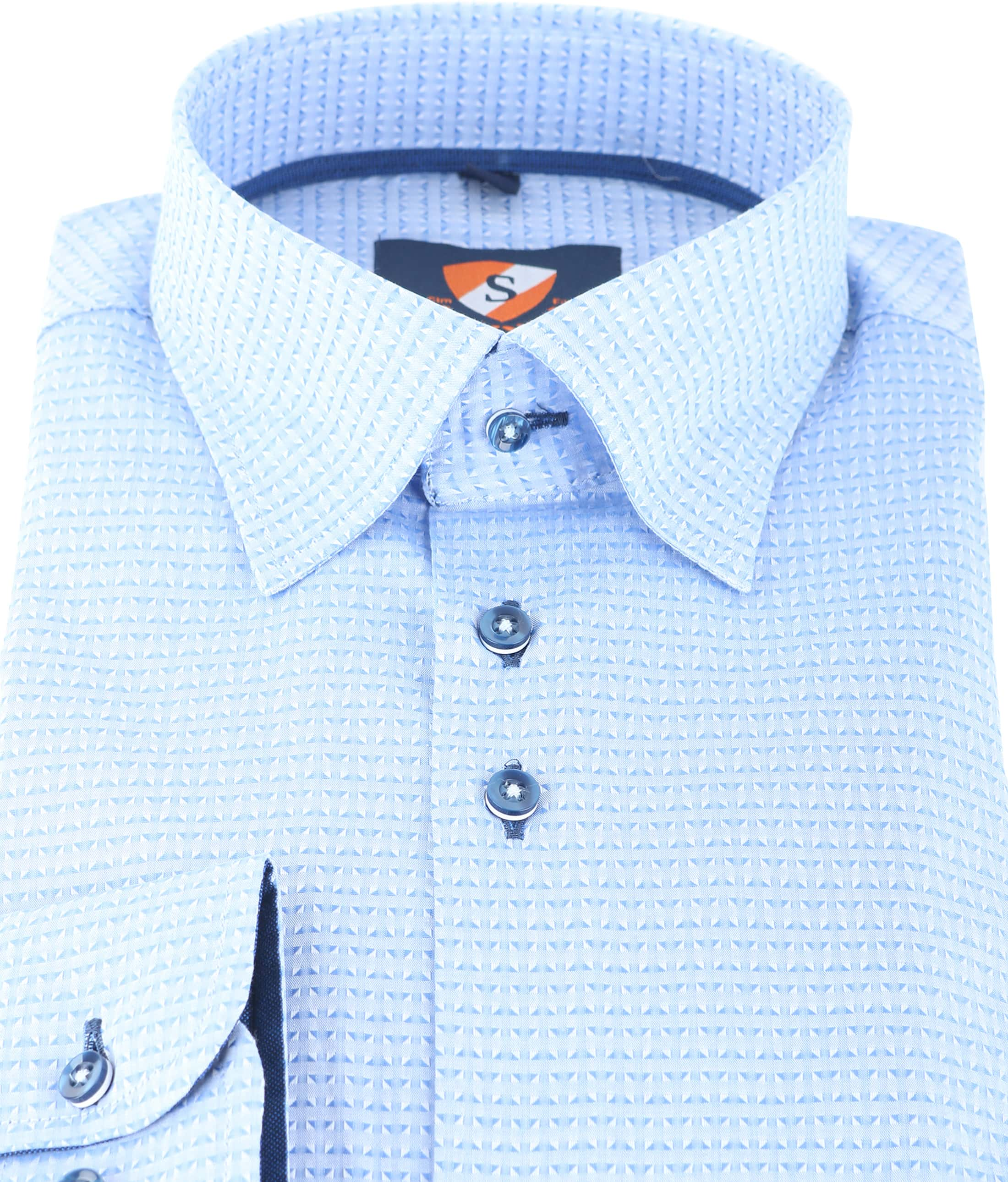 Suitable Overhemd Blue Jacquard 143-2 foto 2