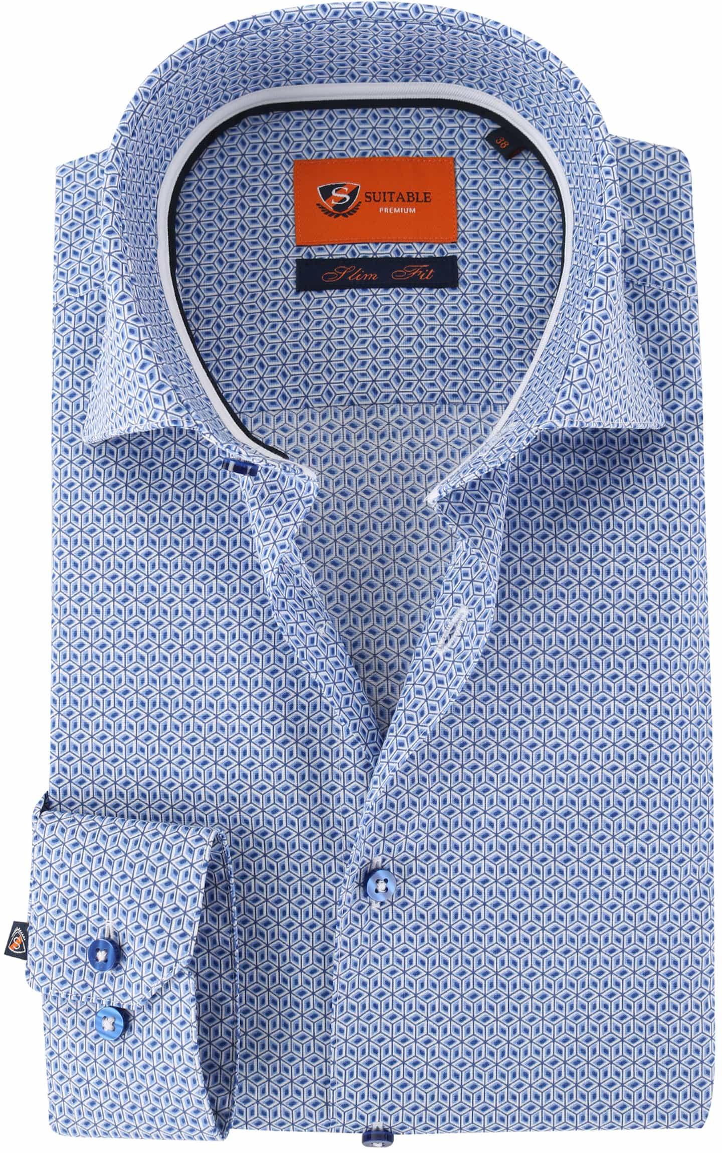 Suitable Overhemd Blue Print foto 0