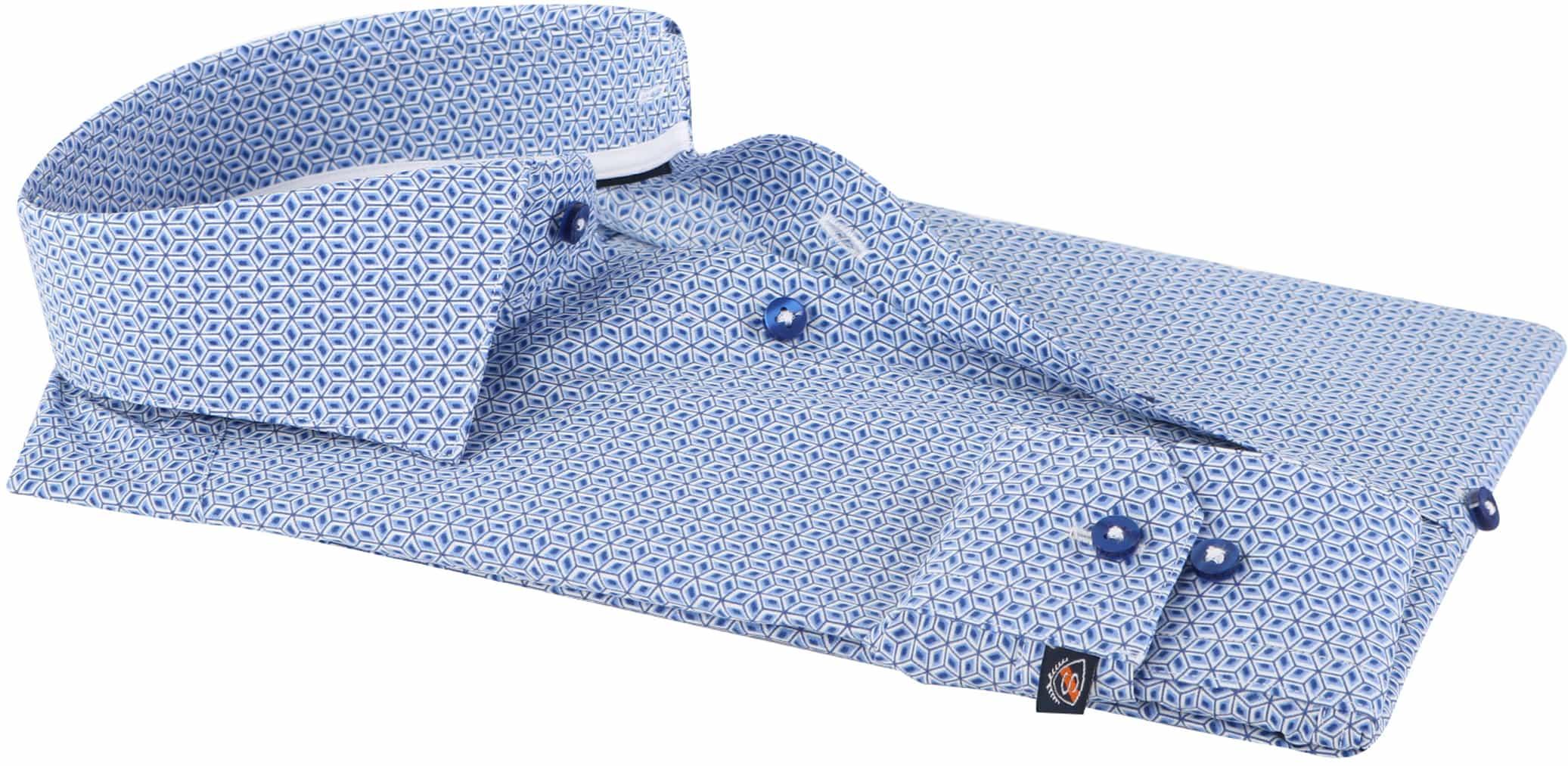 Suitable Overhemd Blue Print foto 2