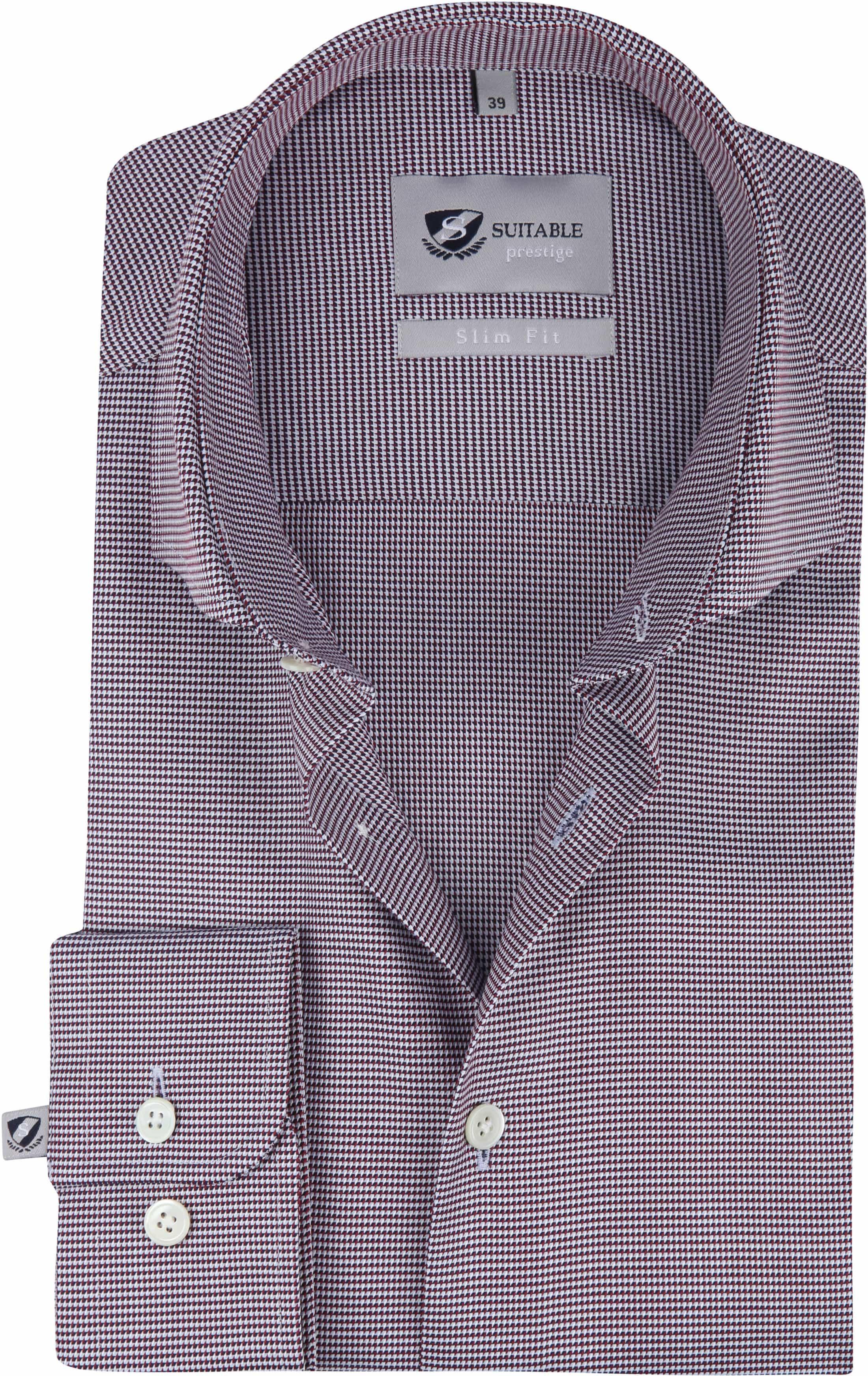 Bordeaux Overhemd.Suitable Overhemd Bordeaux 187 3 187 3 Monti Dessin Online Bestellen