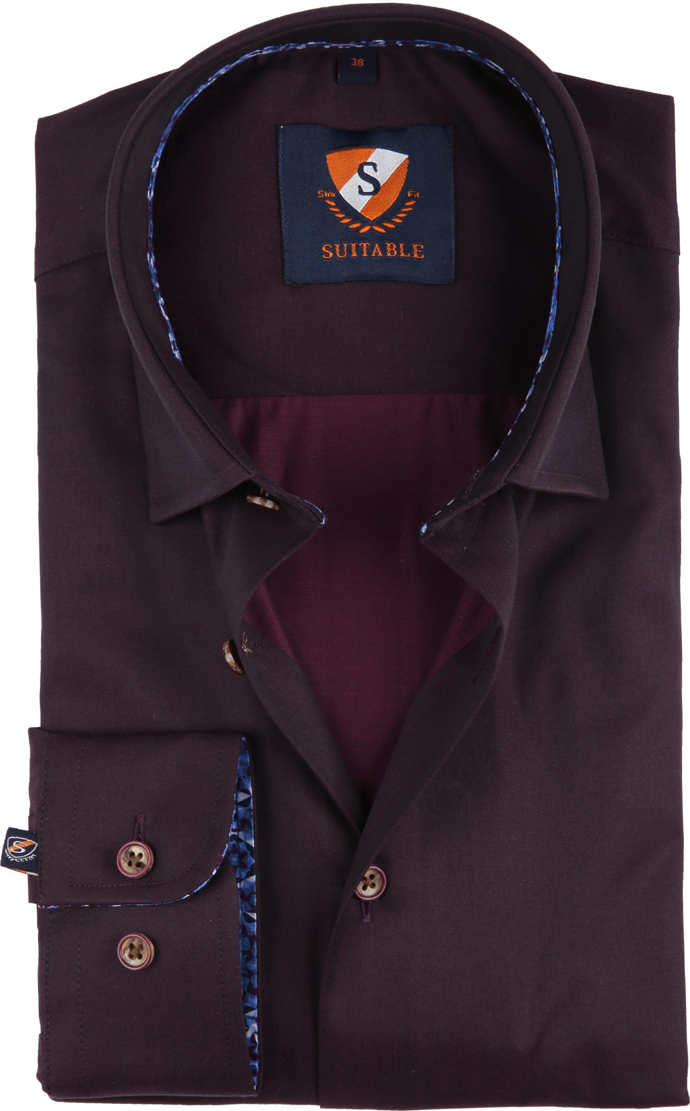 Suitable Overhemd Bordeaux 188-5 foto 0