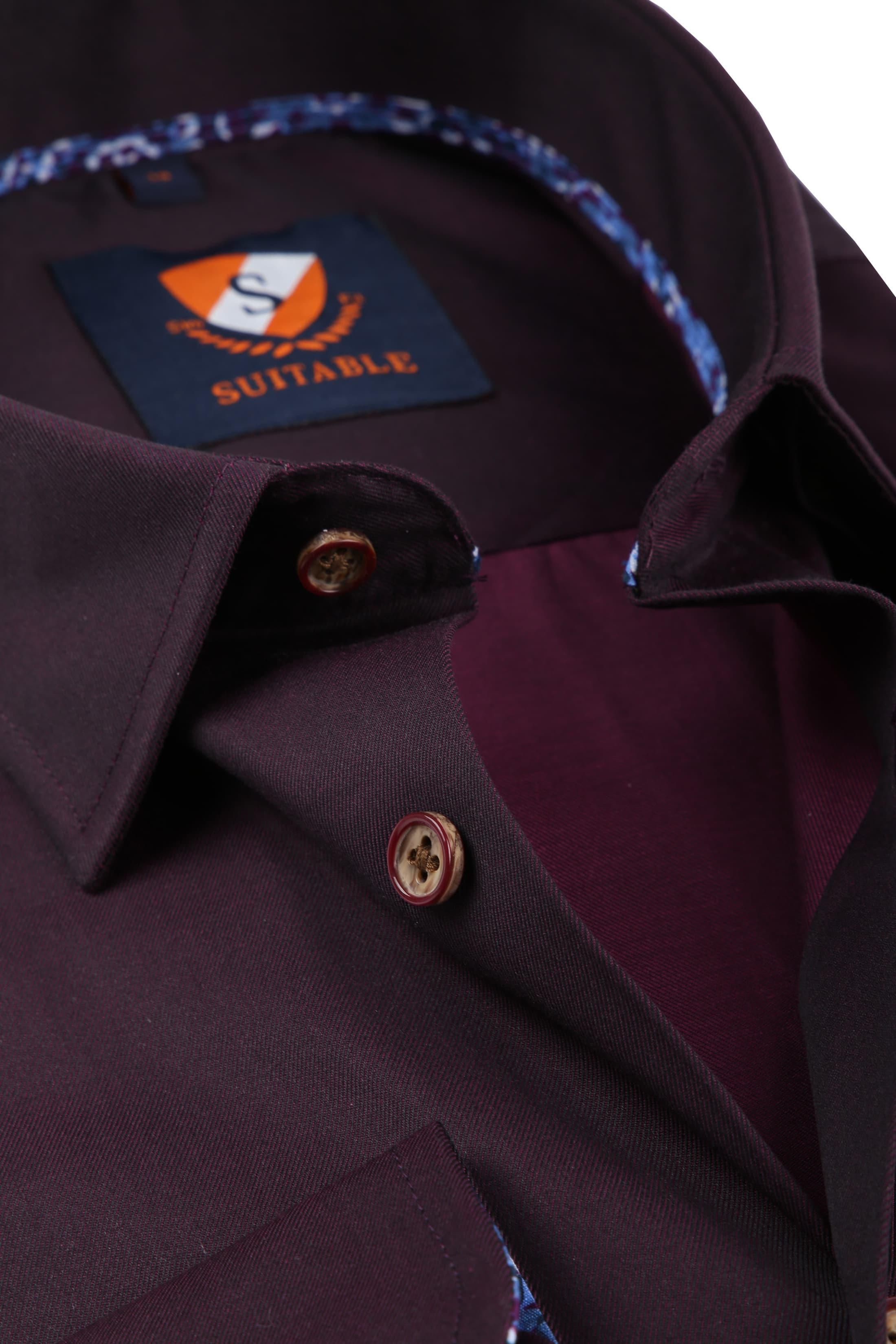 Suitable Overhemd Bordeaux 188-5 foto 1