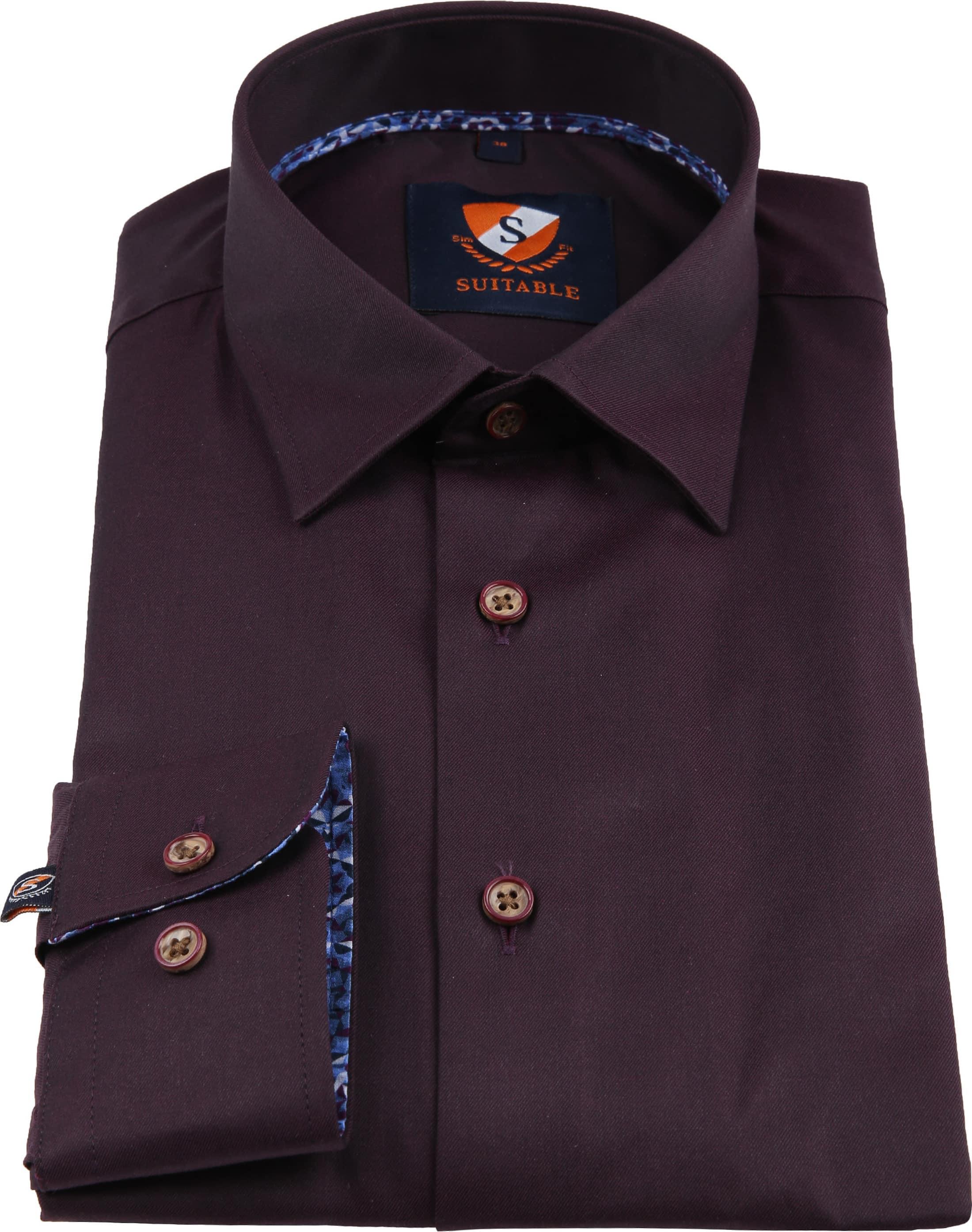 Suitable Overhemd Bordeaux 188-5 foto 2
