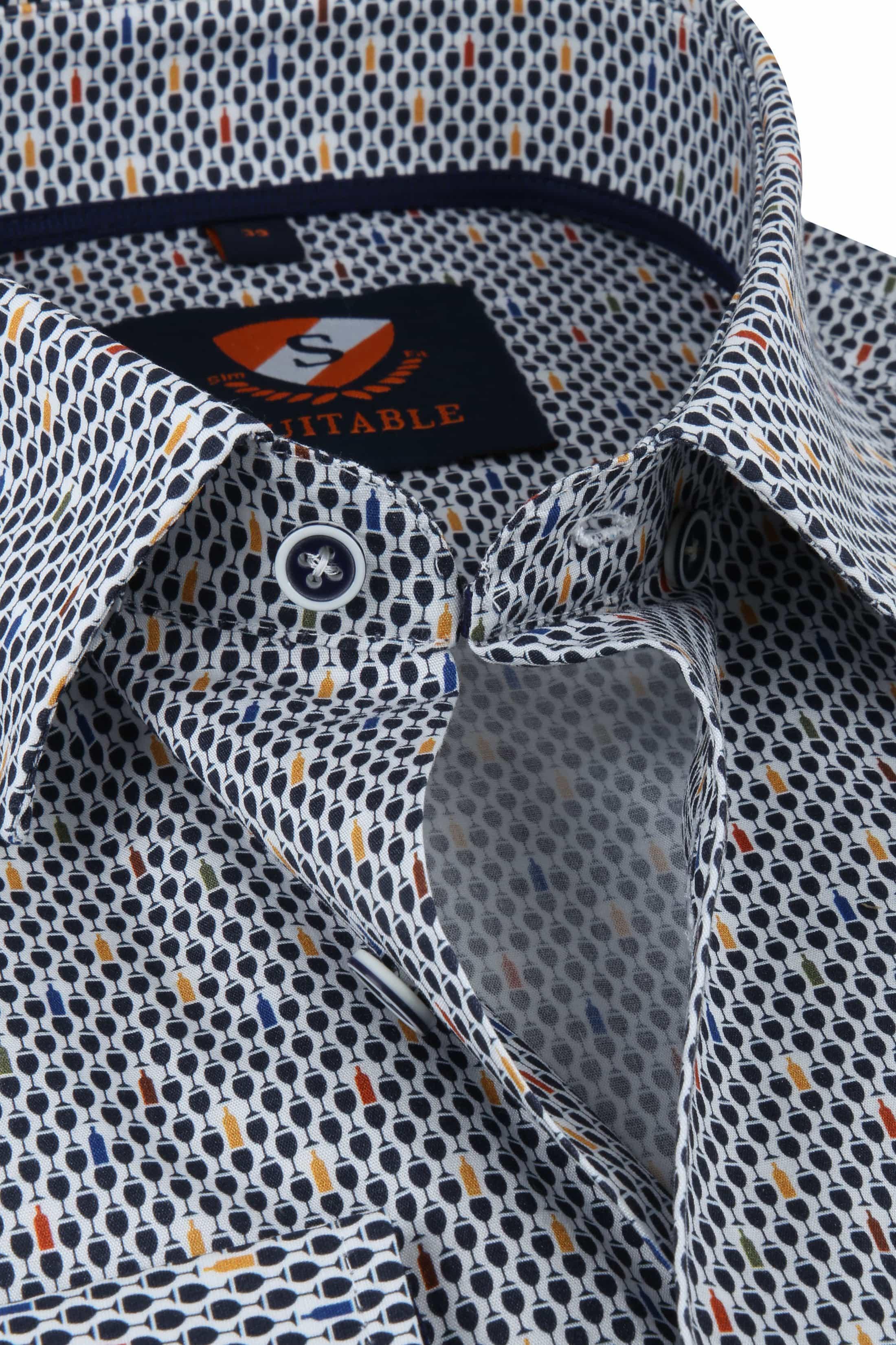 Suitable Overhemd Borrel Navy foto 1