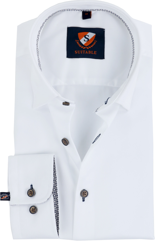 Suitable Overhemd Button Under Wit foto 0