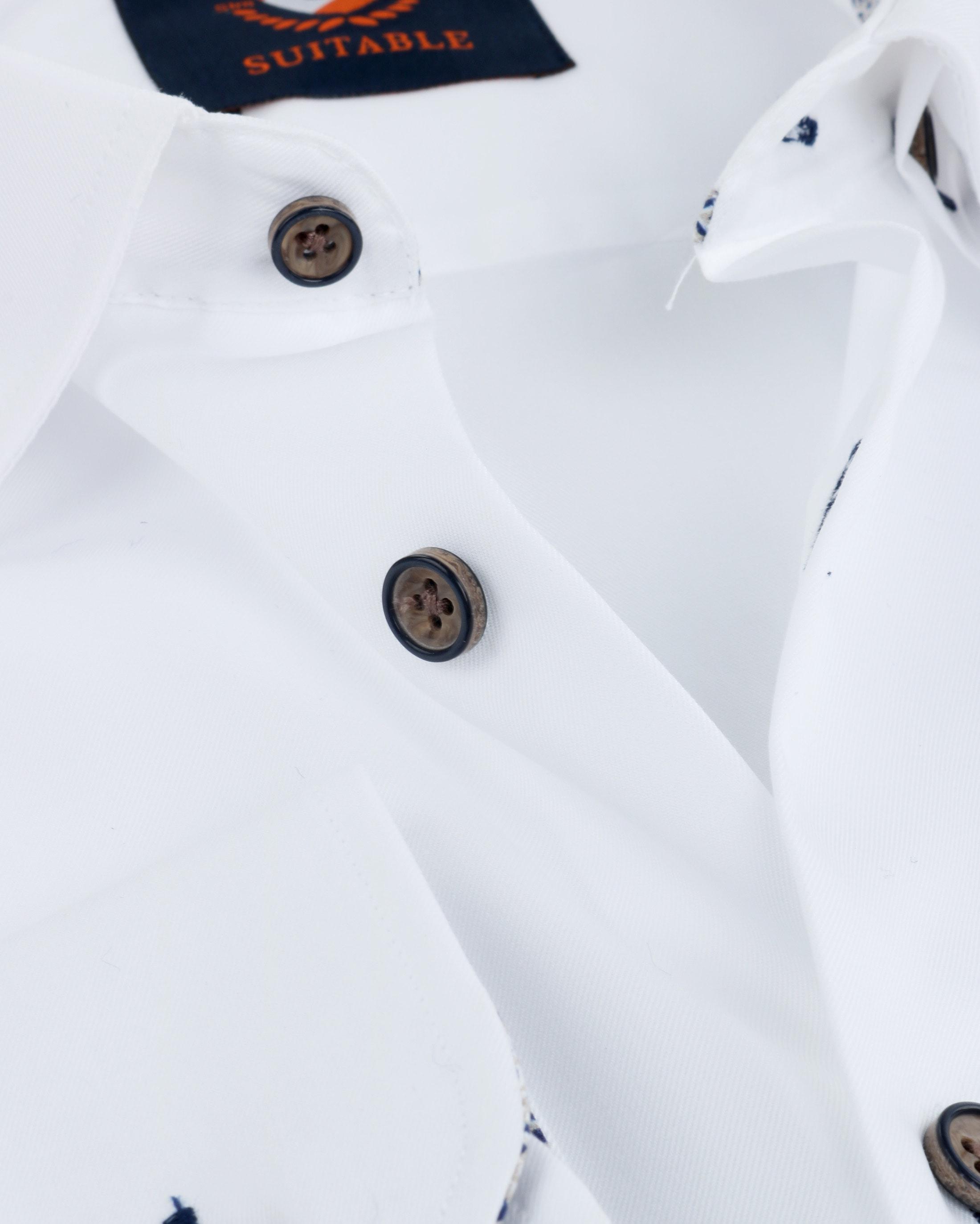 Suitable Overhemd Button Under Wit foto 1