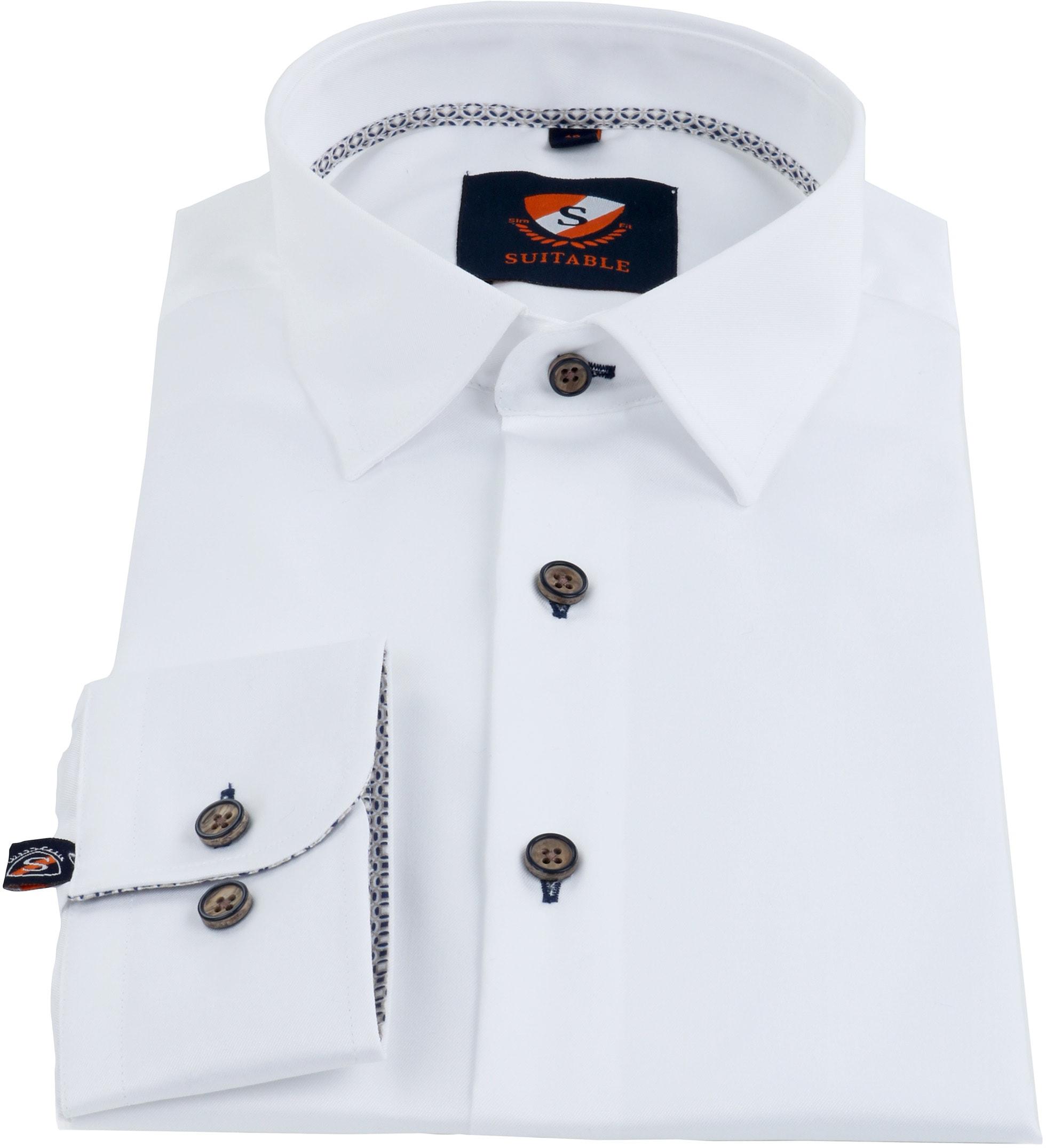 Suitable Overhemd Button Under Wit foto 2