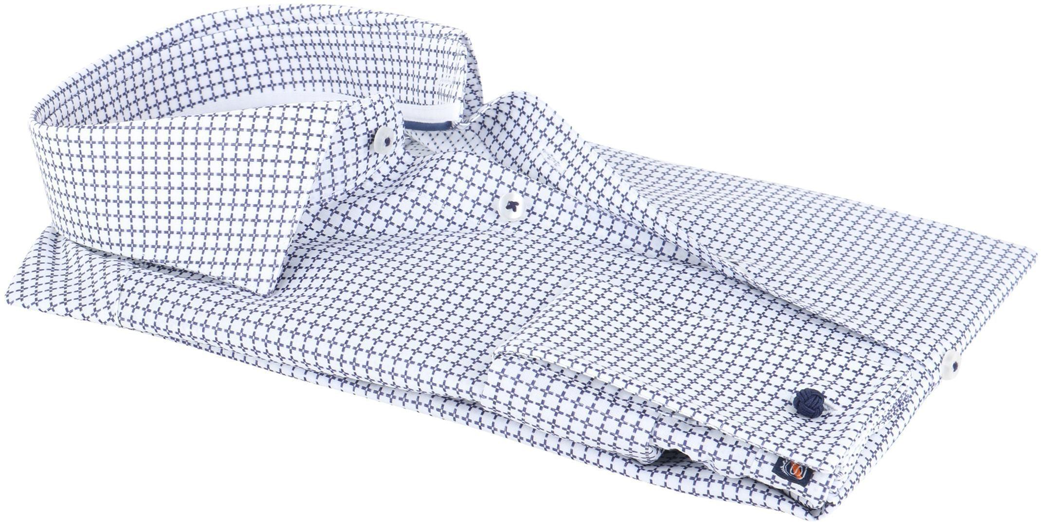 Suitable Overhemd Check Blue Dubbelmanchet foto 1