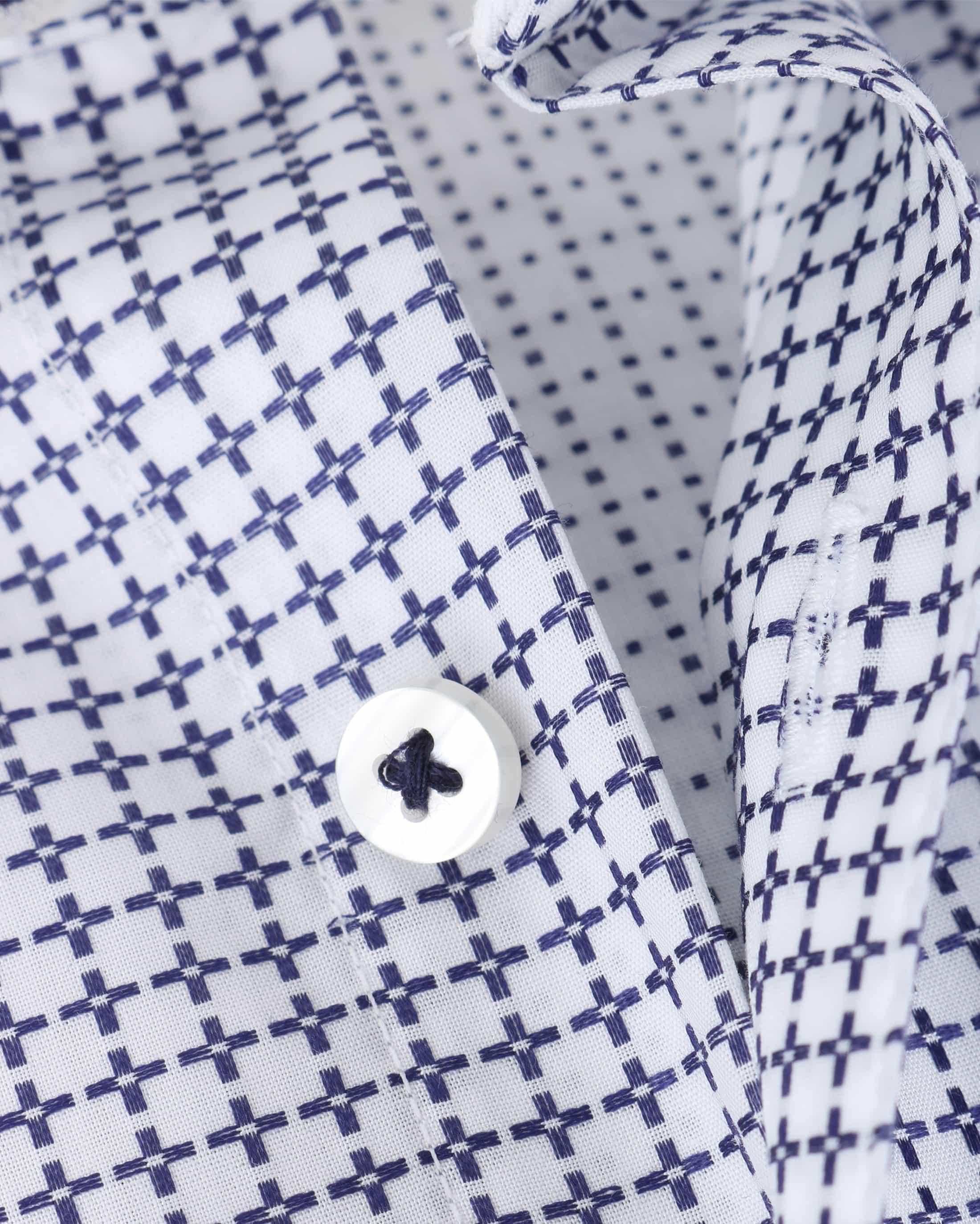 Suitable Overhemd Check Blue Dubbelmanchet foto 3