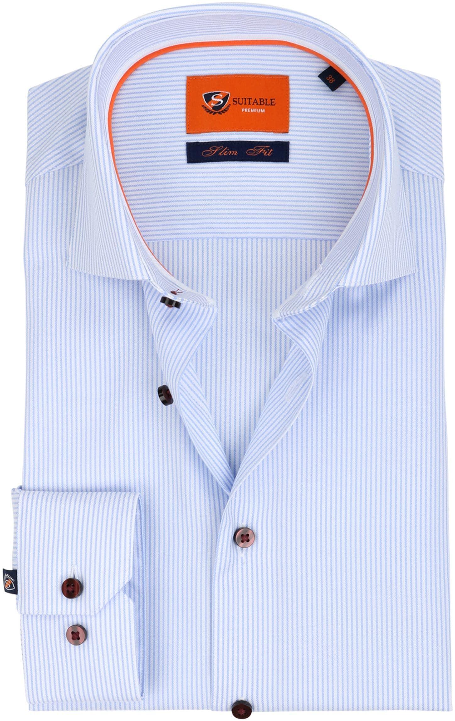 Suitable Overhemd Cotelet Blauw foto 0