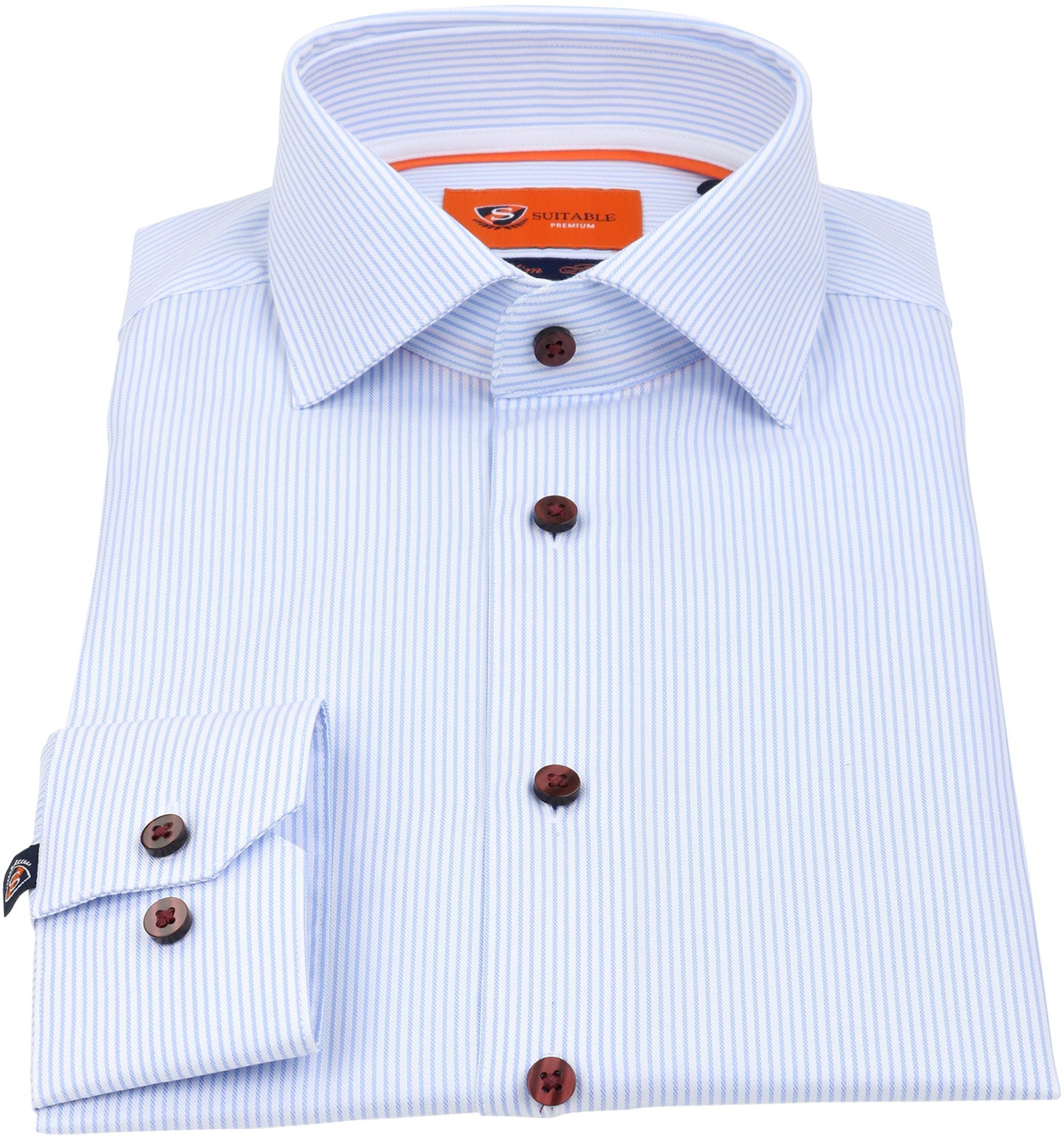 Suitable Overhemd Cotelet Blauw foto 1