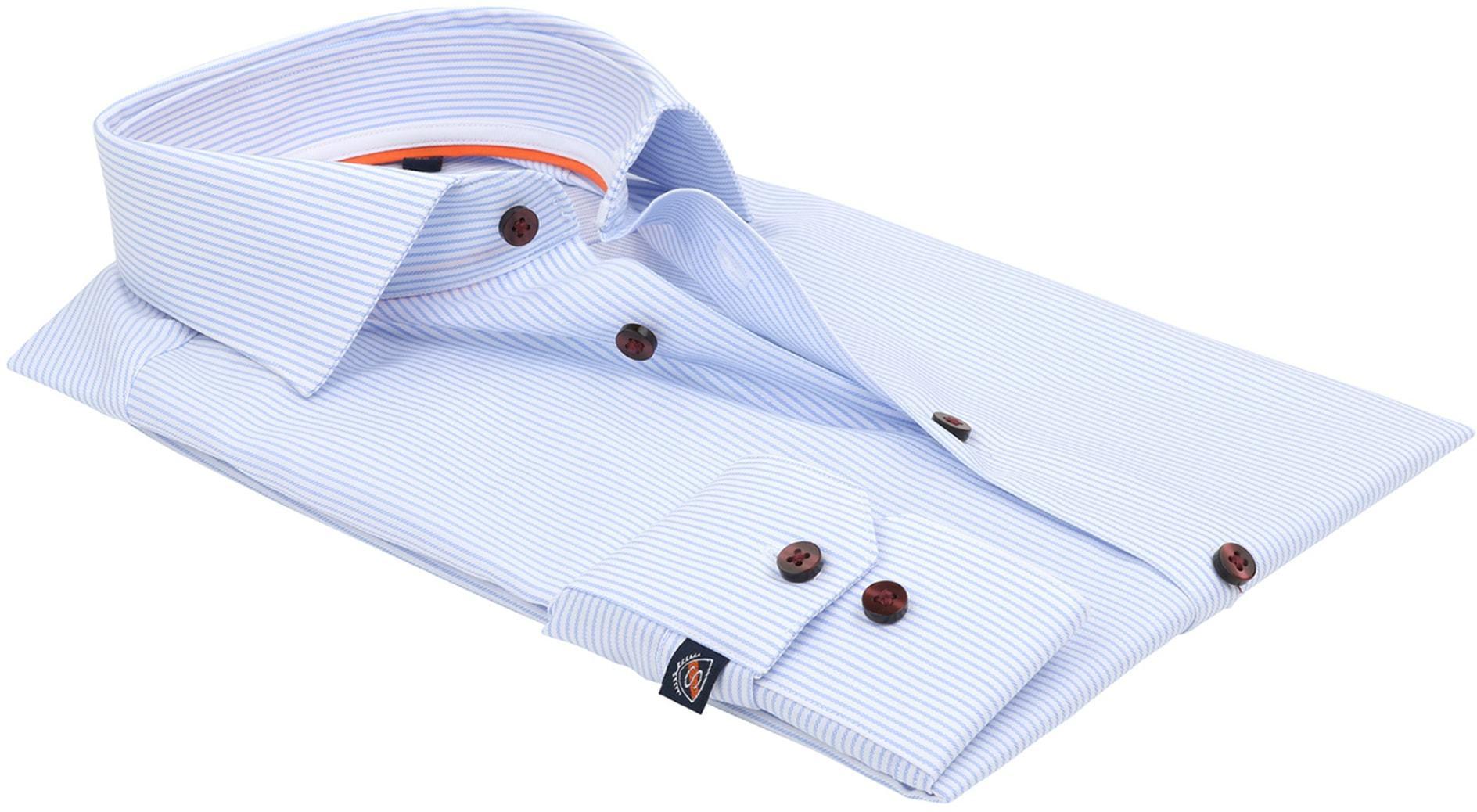 Suitable Overhemd Cotelet Blauw foto 3