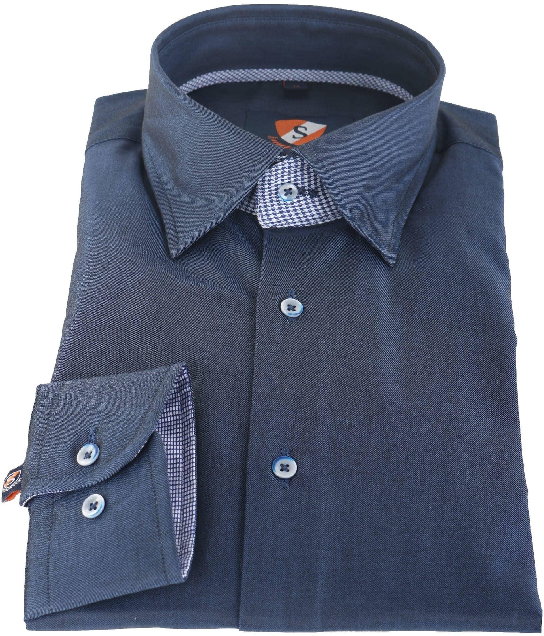 Suitable Overhemd Donkerblauw 145-3 foto 1