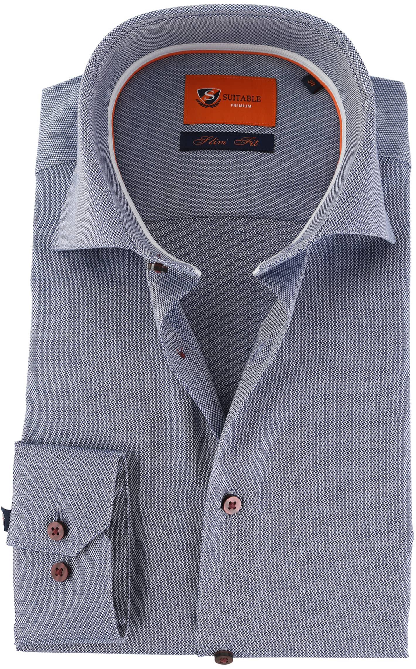 Suitable Overhemd Donkerblauw D72-04 foto 0