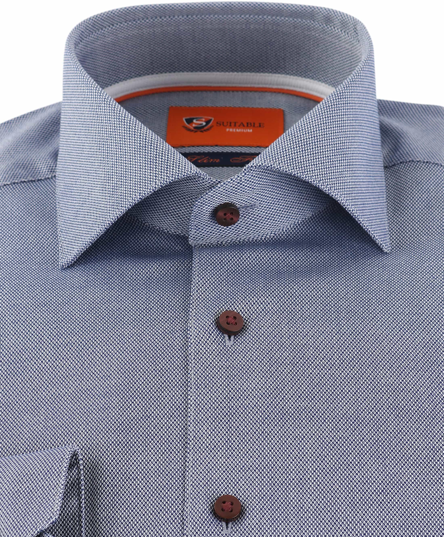 Suitable Overhemd Donkerblauw D72-04 foto 1