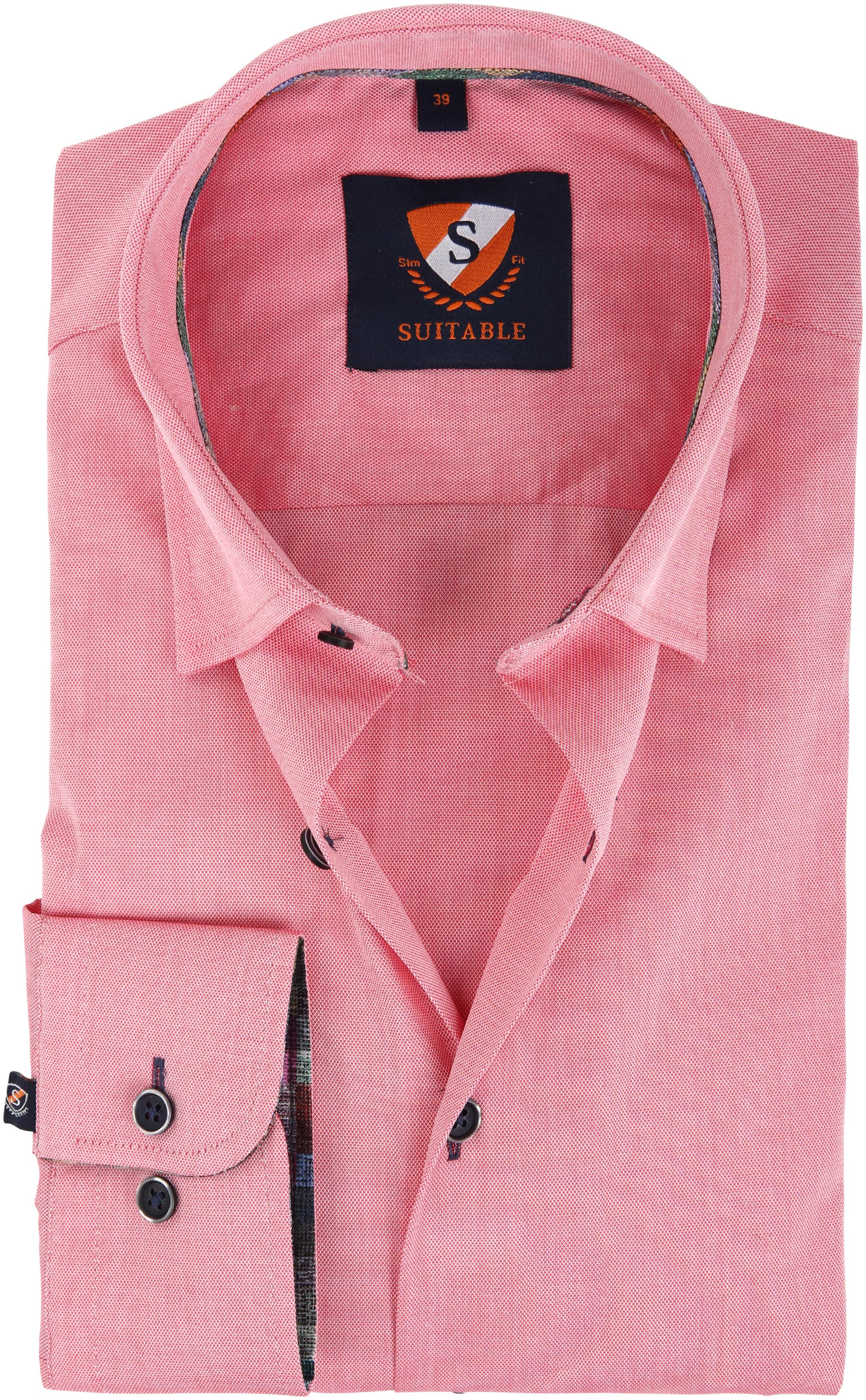 Suitable Overhemd Donkerroze 183-4 foto 0