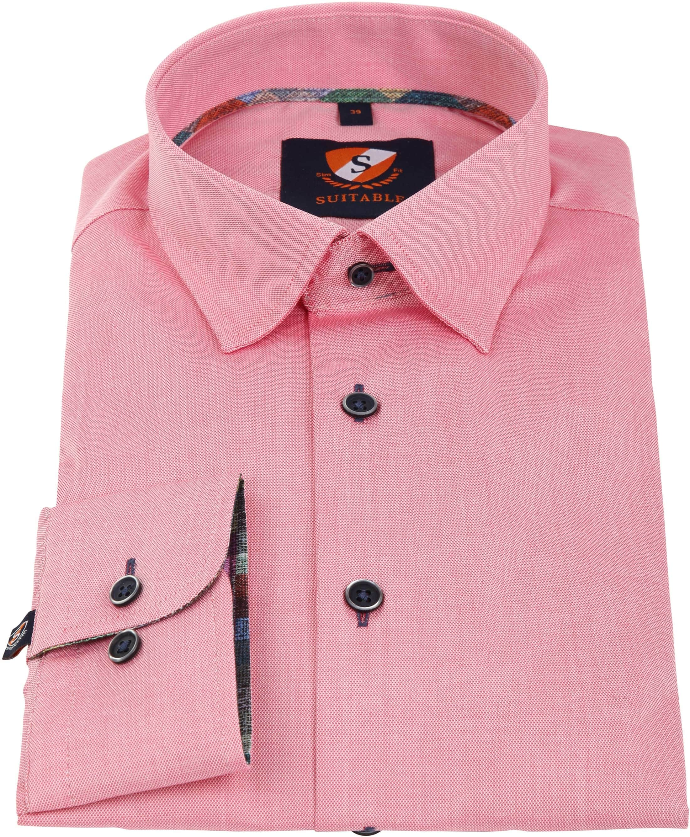 Suitable Overhemd Donkerroze 183-4 foto 2