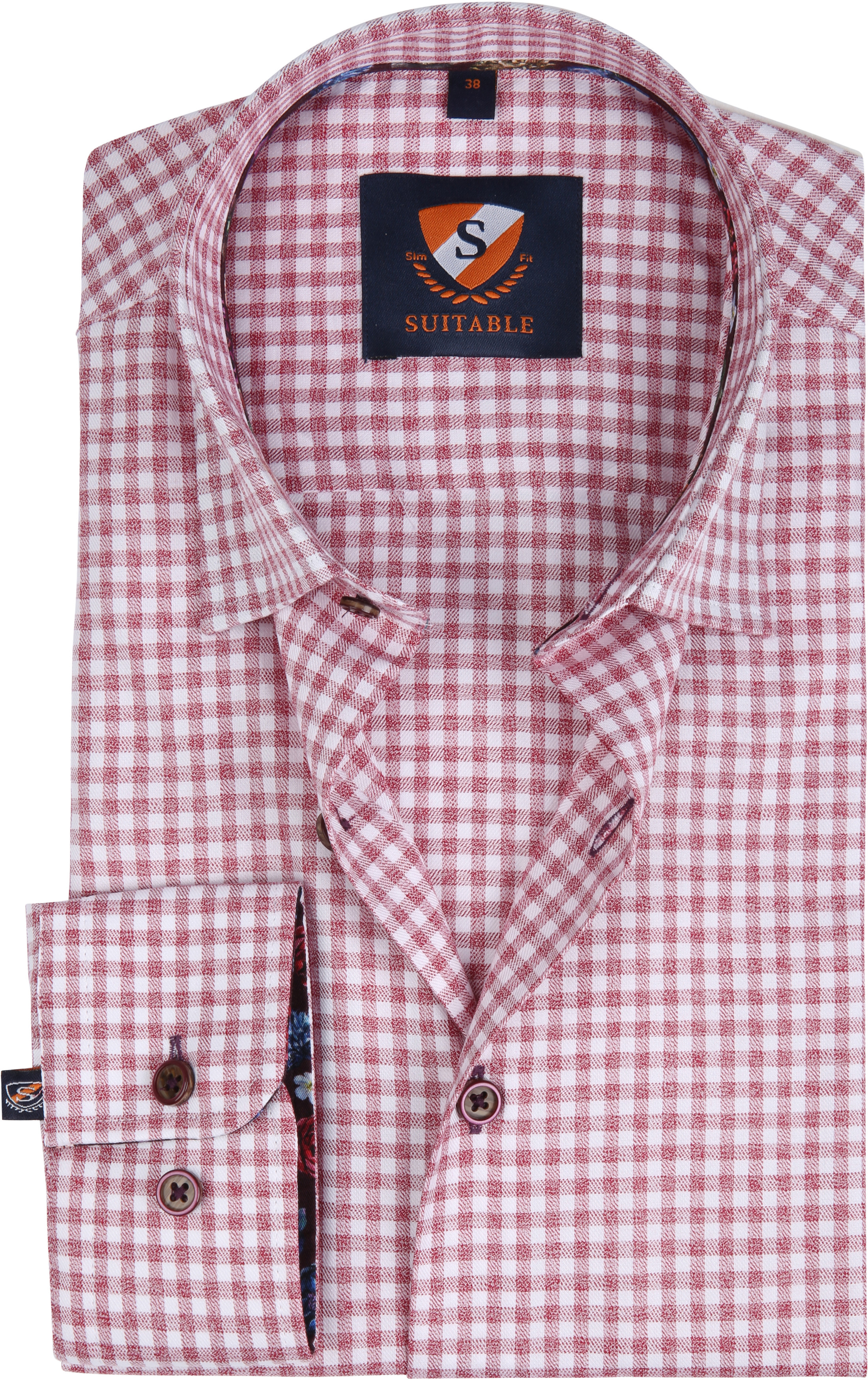 Suitable Overhemd HBD Bordeaux Checks foto 0