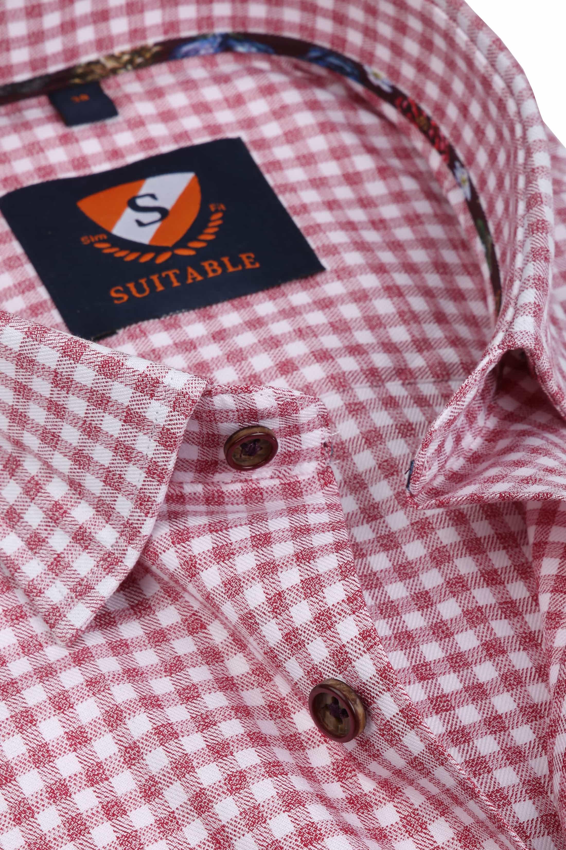 Suitable Overhemd HBD Bordeaux Checks foto 1
