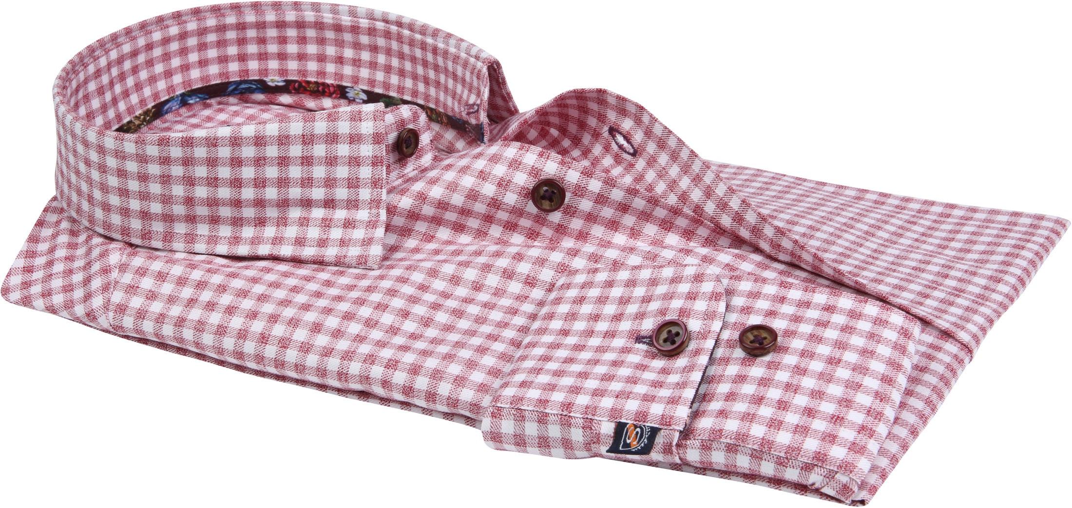 Suitable Overhemd HBD Bordeaux Checks foto 2