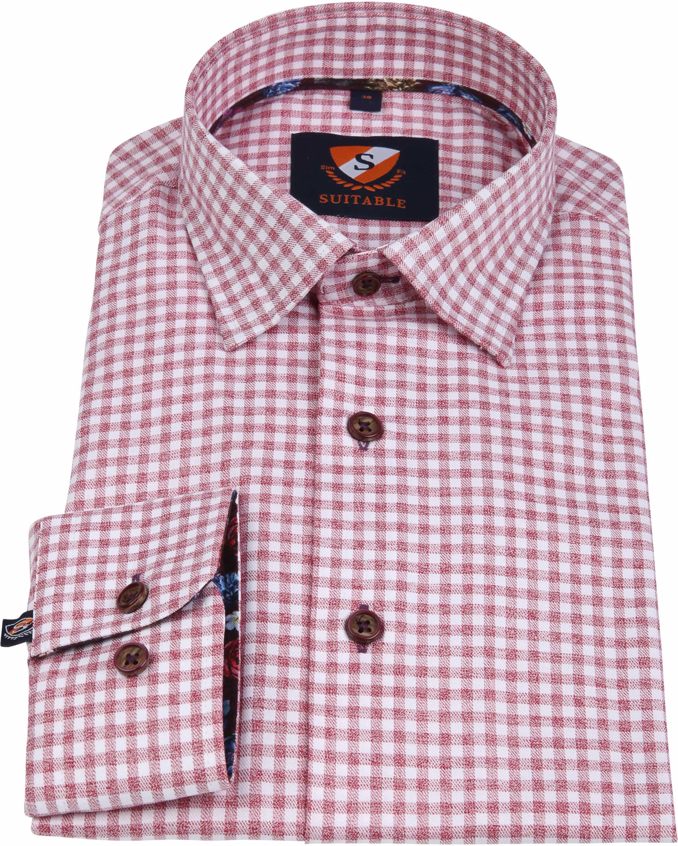 Suitable Overhemd HBD Bordeaux Checks foto 3