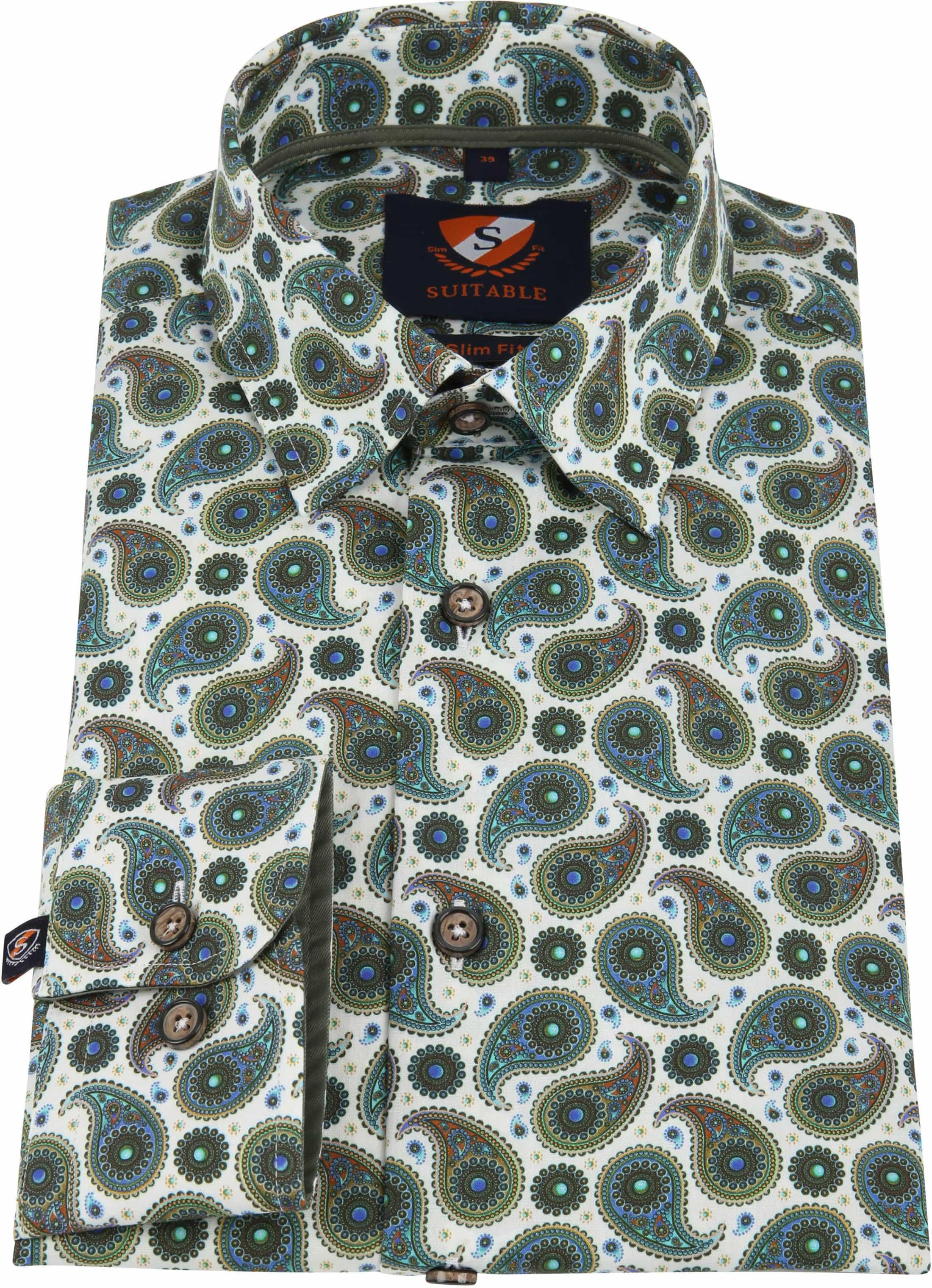 Suitable Overhemd HBD Paisley Groen foto 3